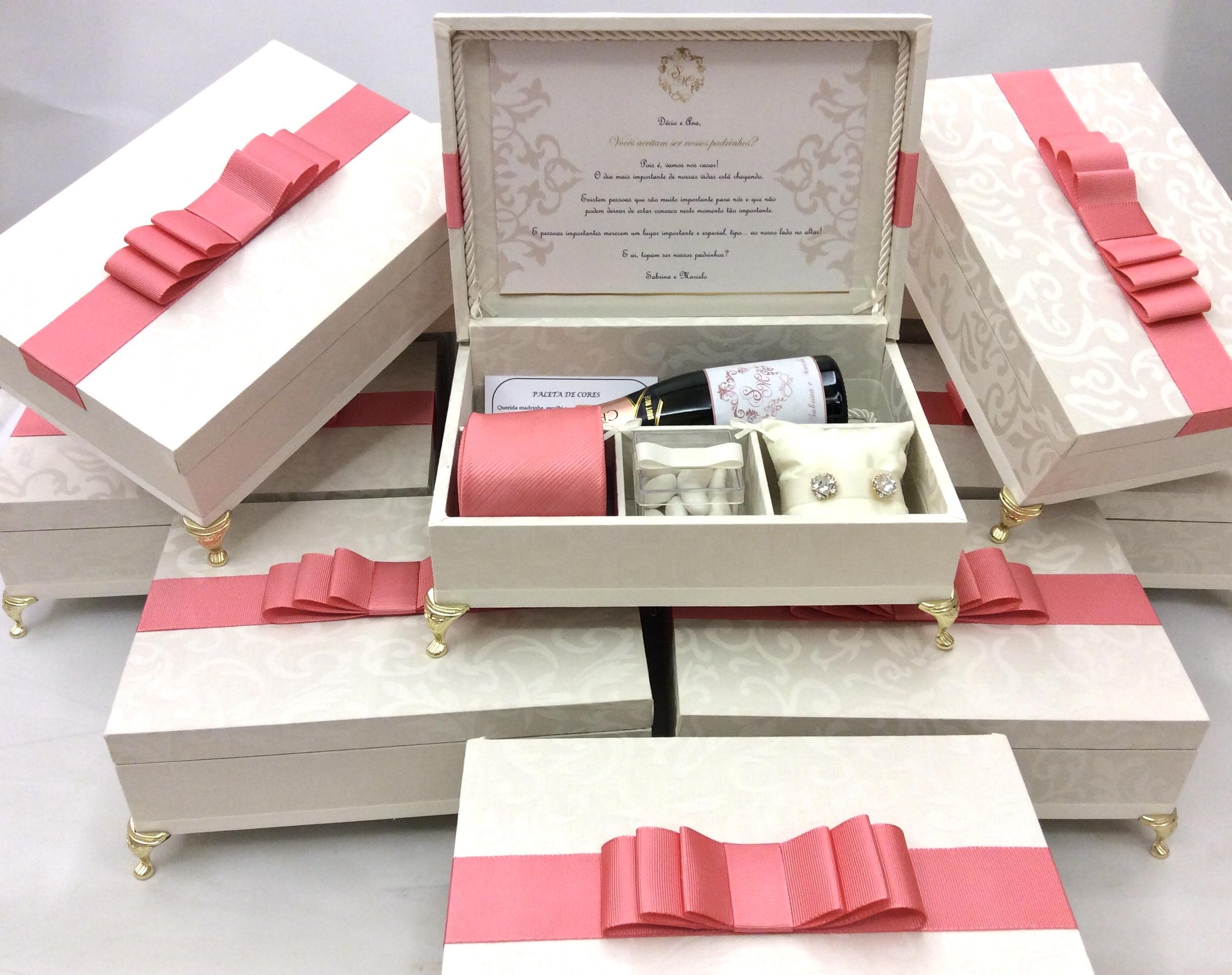adba71be9 Caixa Convite Padrinhos de Casamento no Elo7