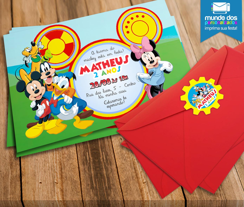 Convites Festa Turma Do Mickey