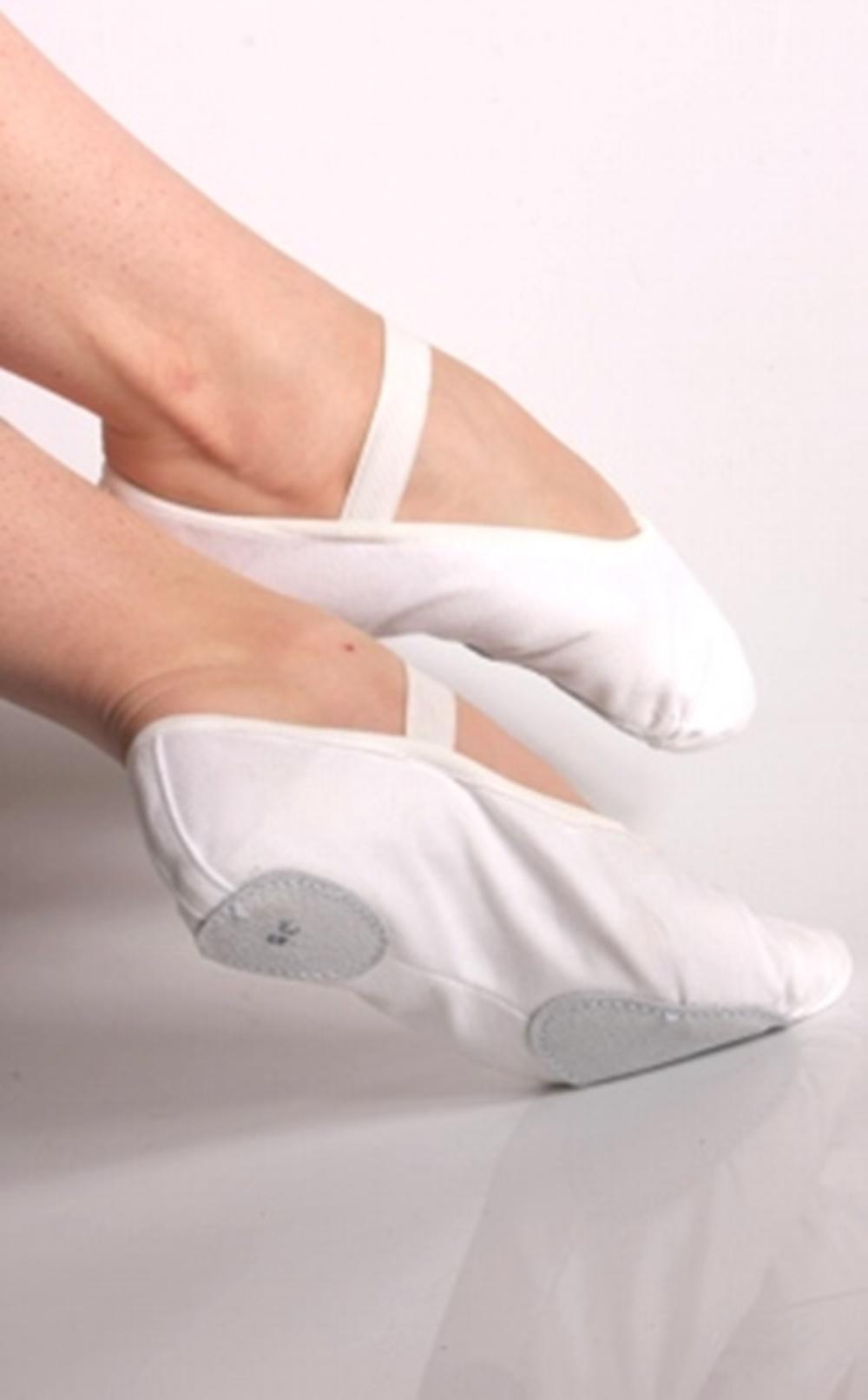 a2e8d09fcf Sapatilha Ballet Ovinho Lona Branca no Elo7