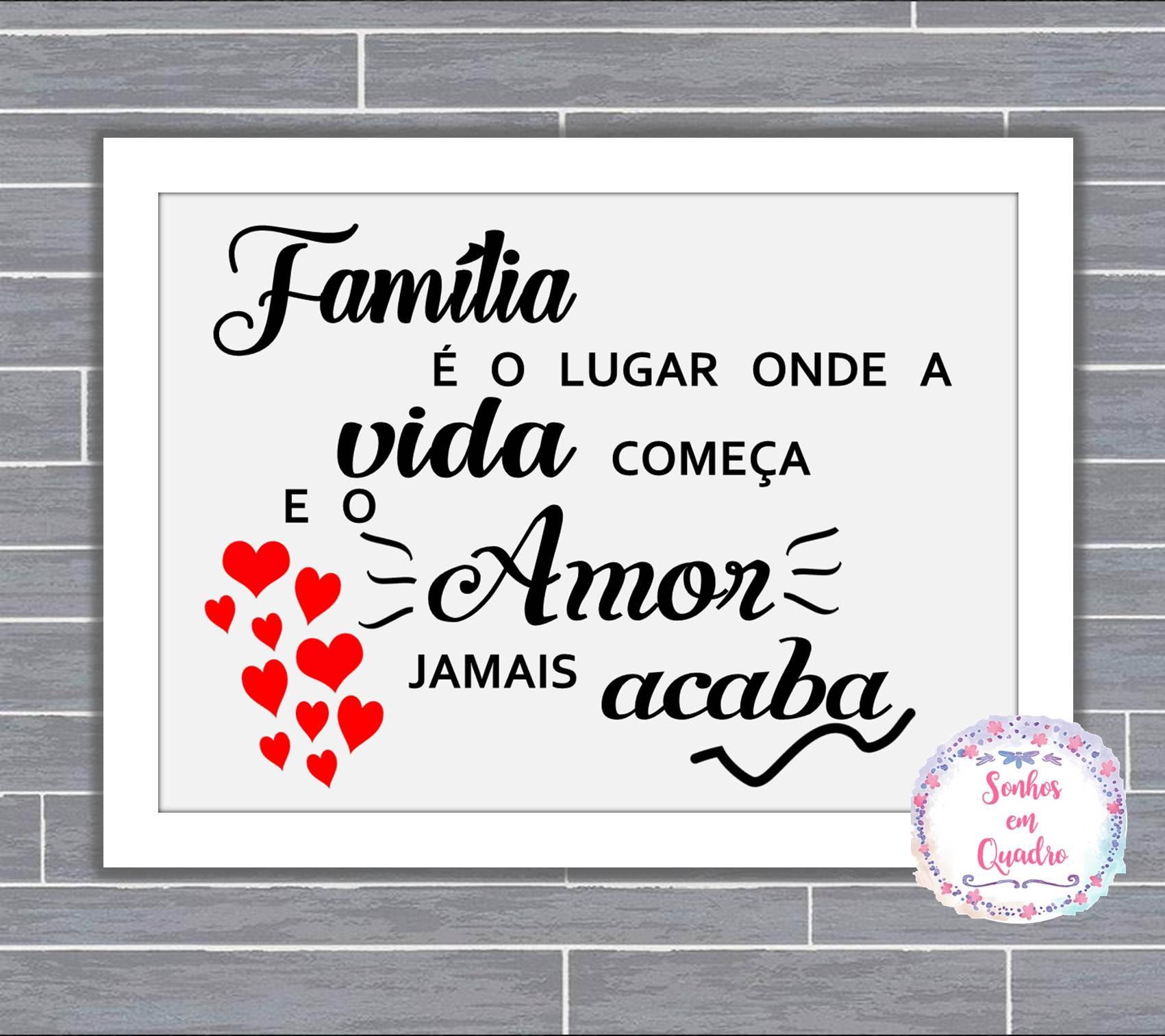 Poste C Moldura Amor De Familia No Elo7 Sonhos Em Quadro 918d61