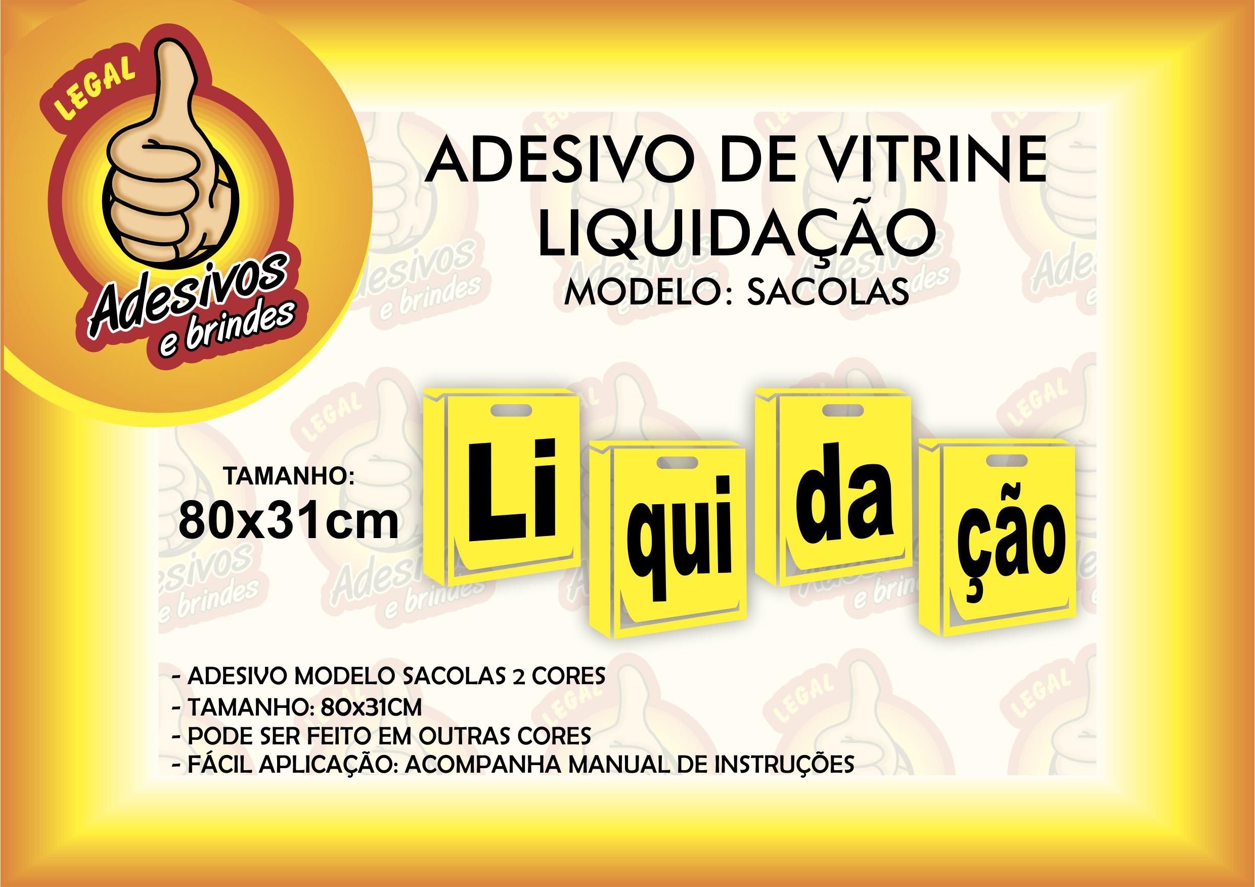 117732c3f Adesivo de Vitrine Sale Faixa Ultimos