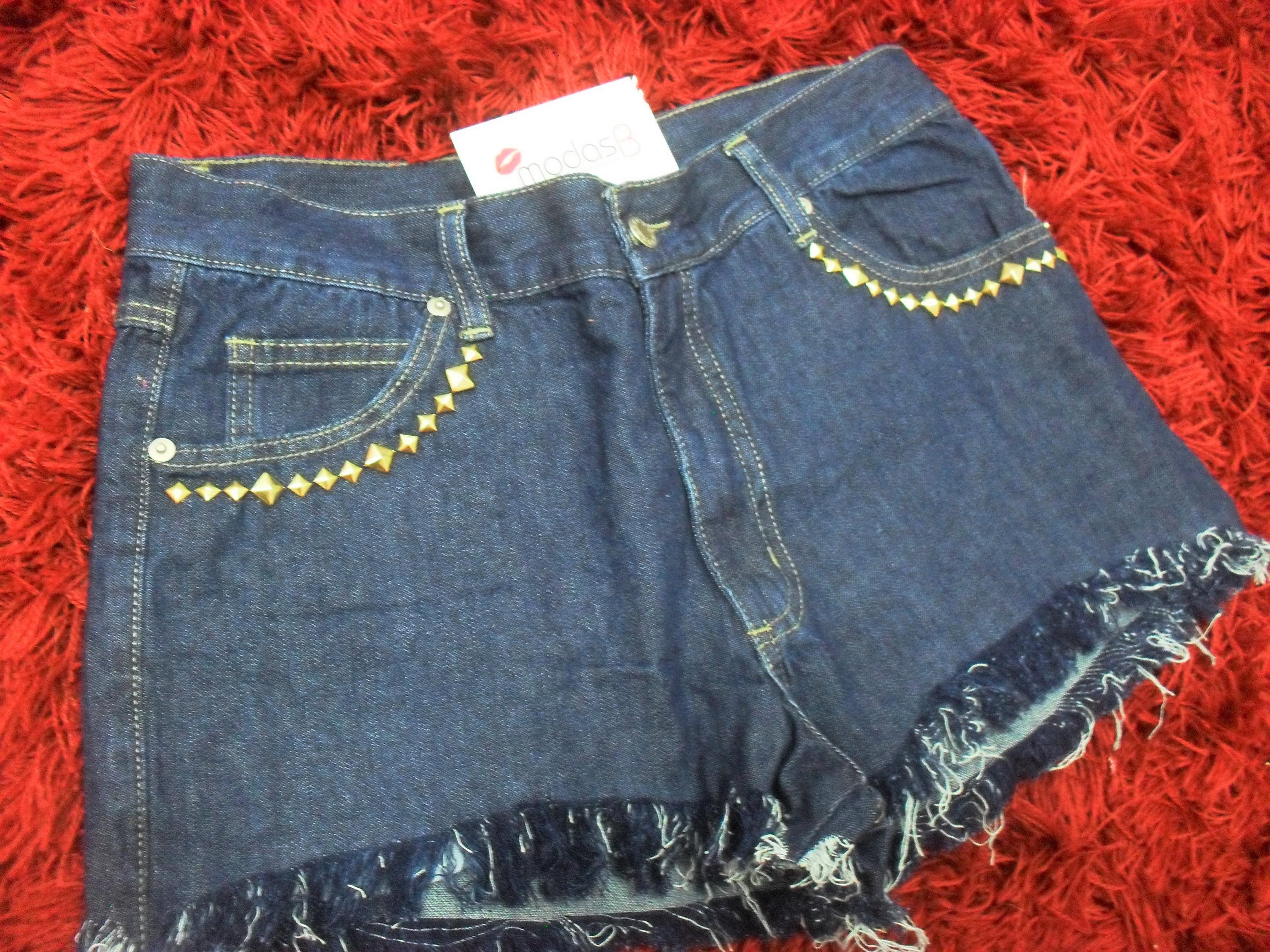 207fa81e0c Short Jeans Customizado Azul