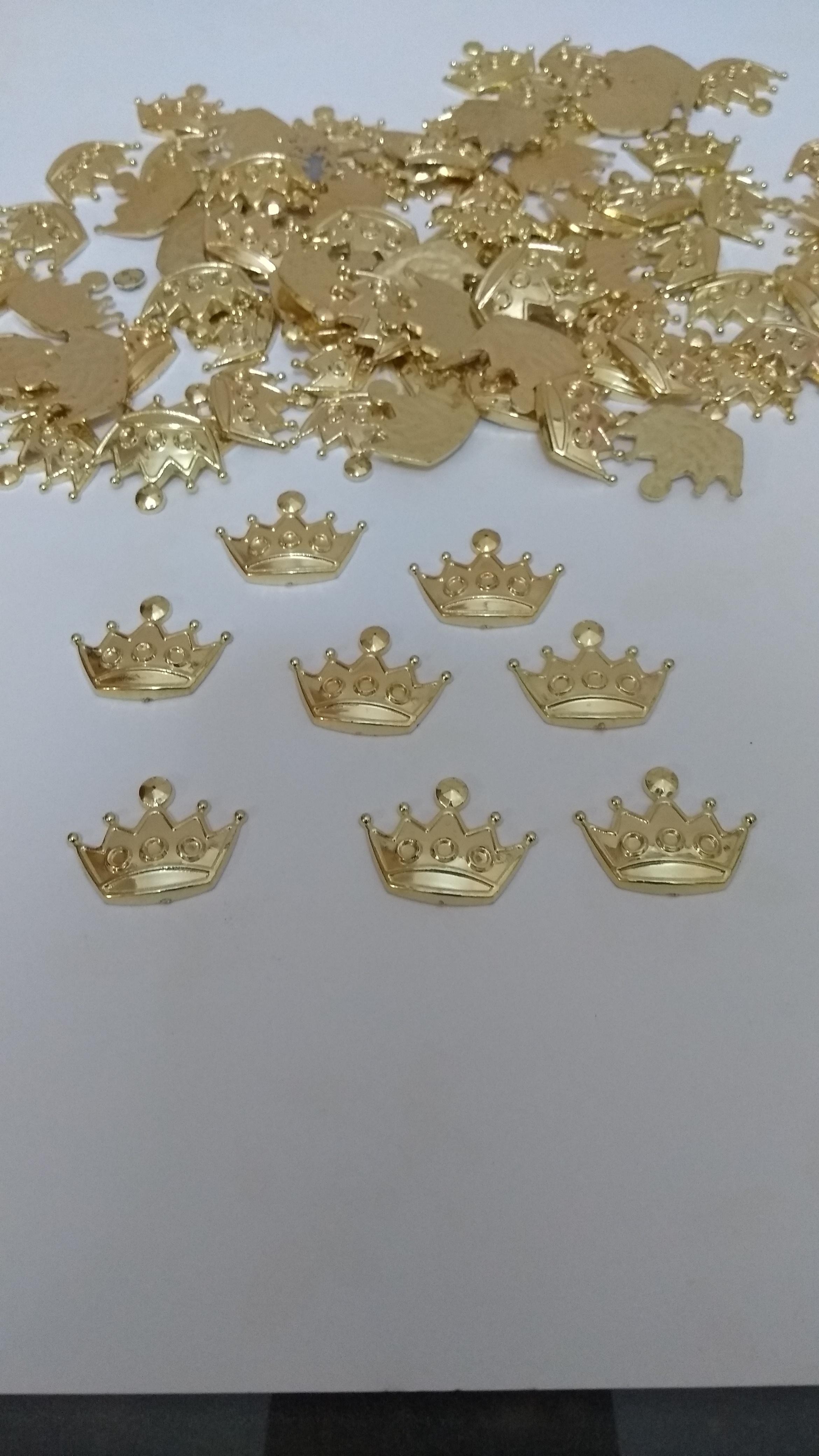 Apliques dourado coroa no Elo7 | Corujinha personalizados (91A21C)