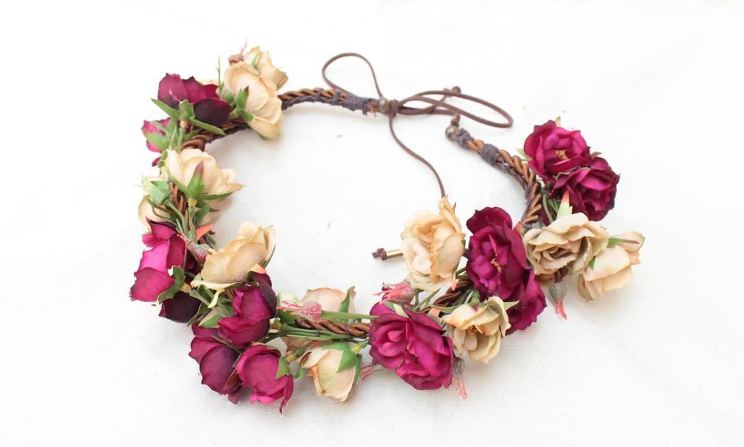 Famosos Coroa de Flores Headband | Recordatus | Elo7 EX25