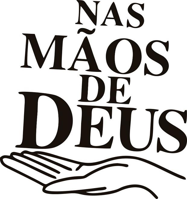 Adesivo Religião Frase Nas Mãos De Deus No Elo7 Gaudesivos 91e6ac