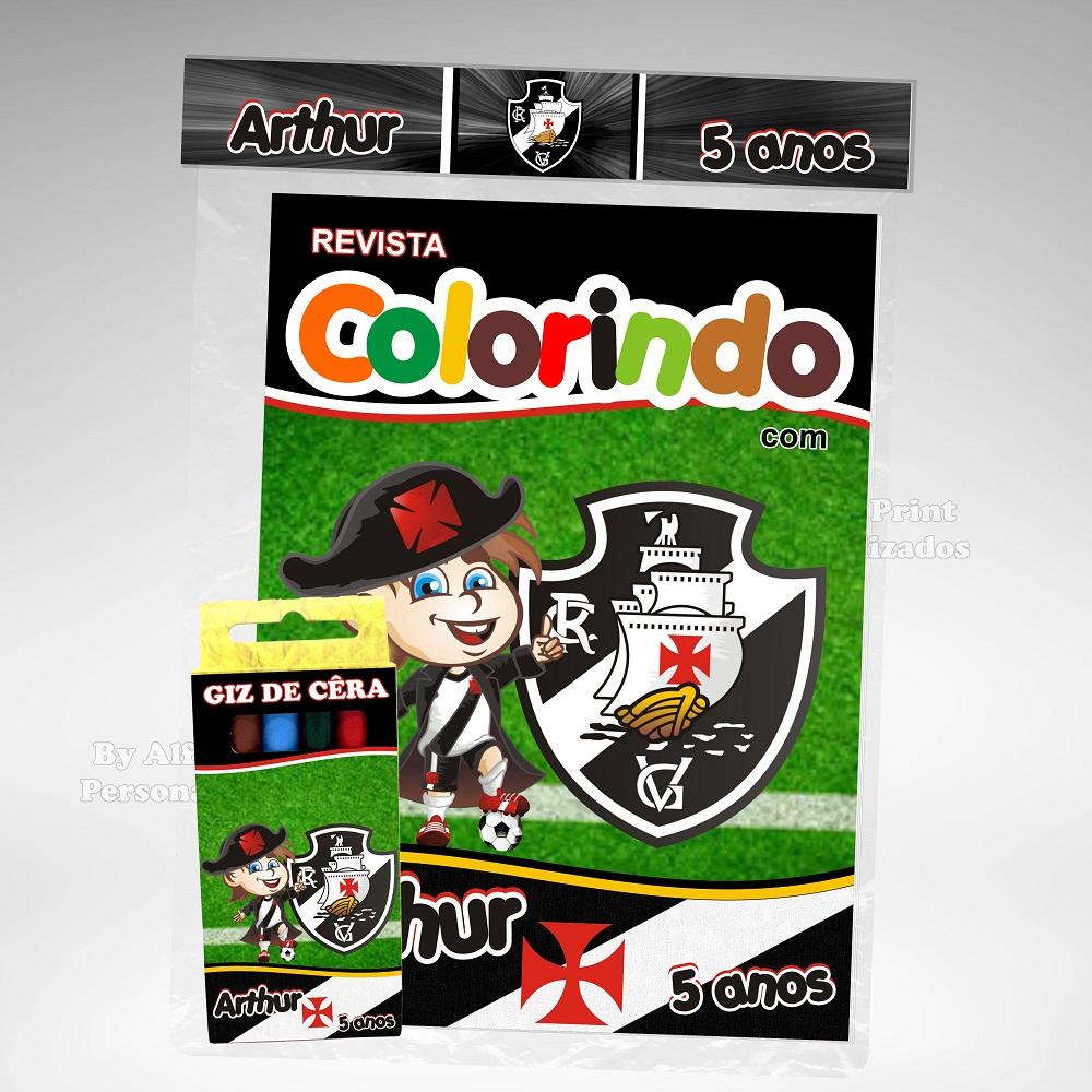 Kit Colorir Vasco Brindes No Elo7 Alfa Print Personalizados