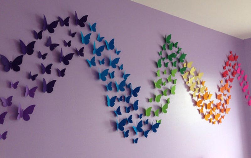 Colorful Butterflies Wall Art