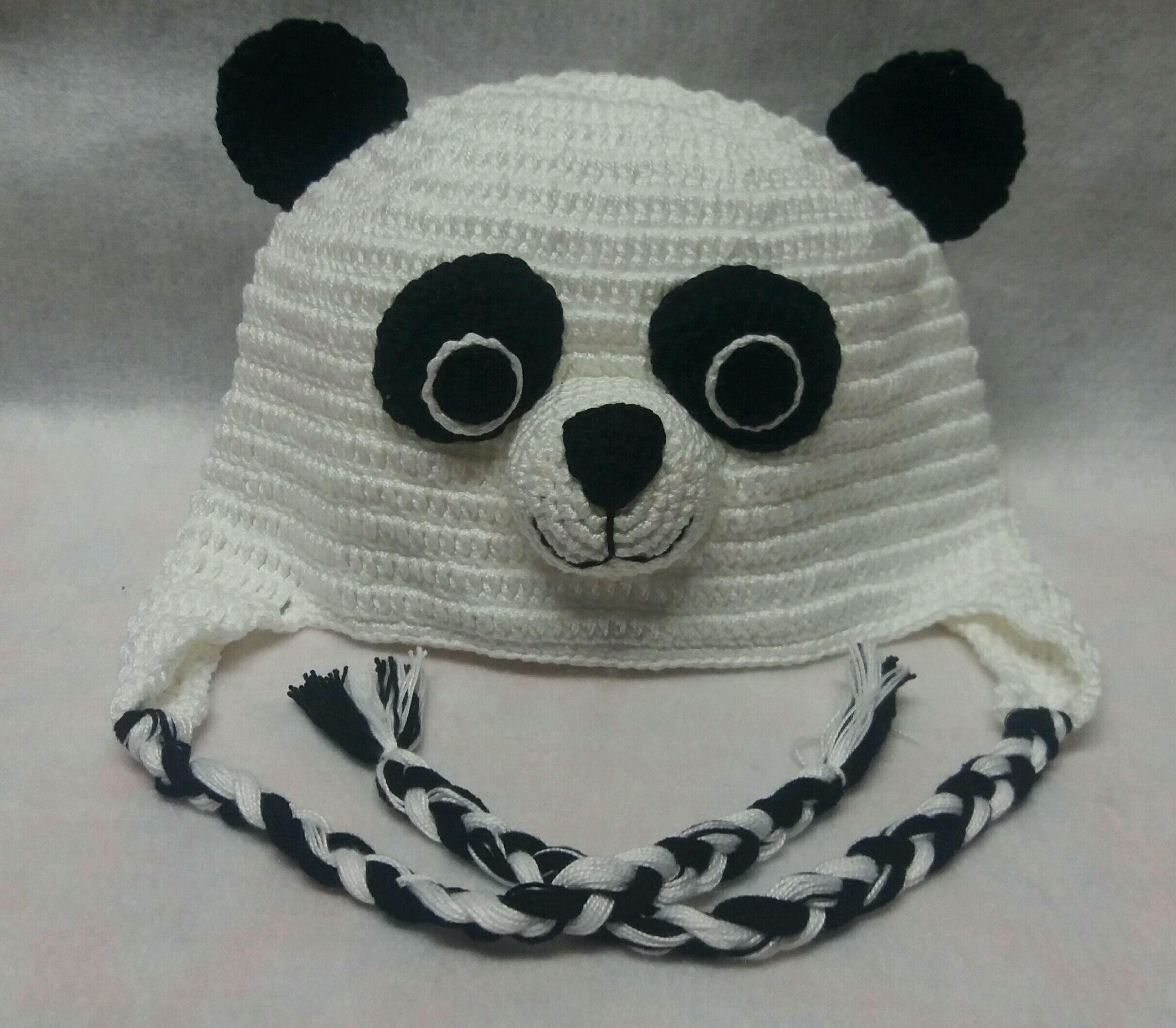 Touca urso panda no Elo7  21e633a8a43