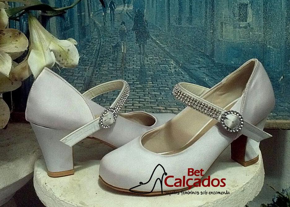 8a07d2e80 Sapato Boneca Salto Plataforma | Elo7
