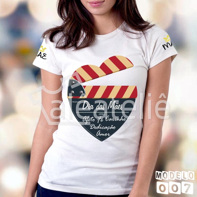 Camiseta Personalizada Mae Amor Eterno  bd78ed8d6173e