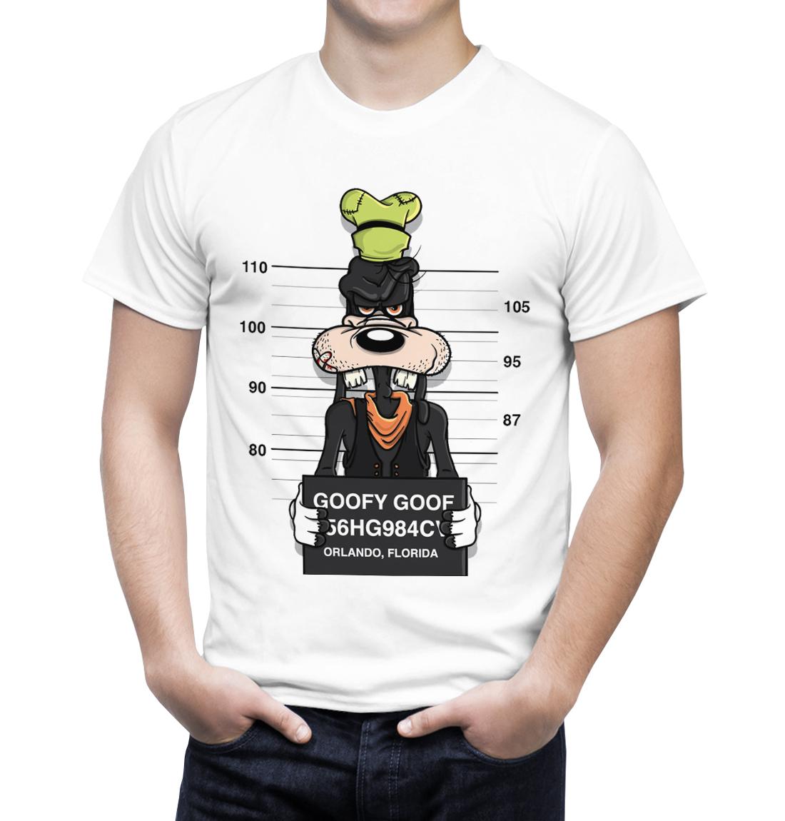 Camiseta Pateta Preso Branca  1ff82257f38