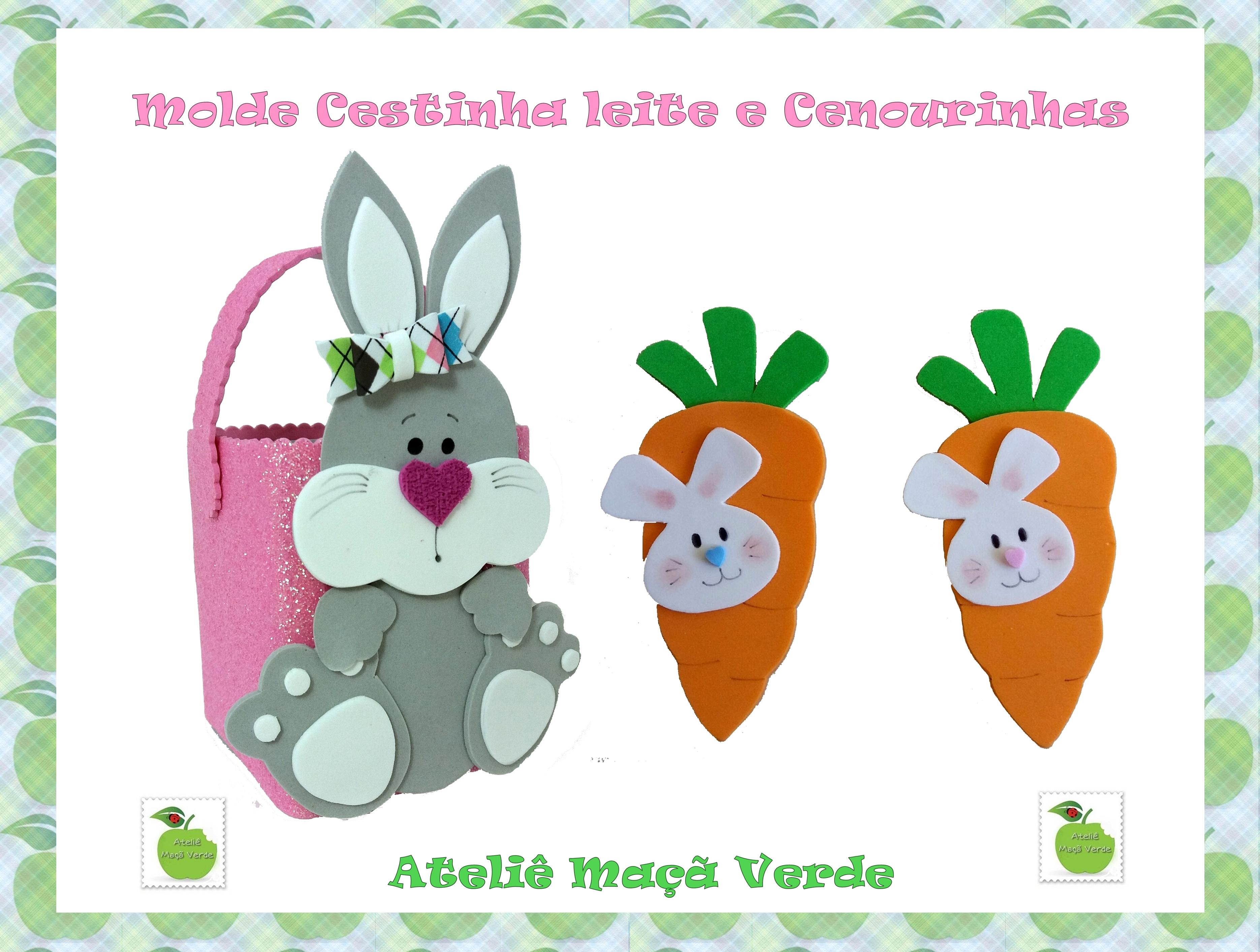 Molde Pascoa Cestinha Coelho E Cenouras No Elo7 Atelie Maca