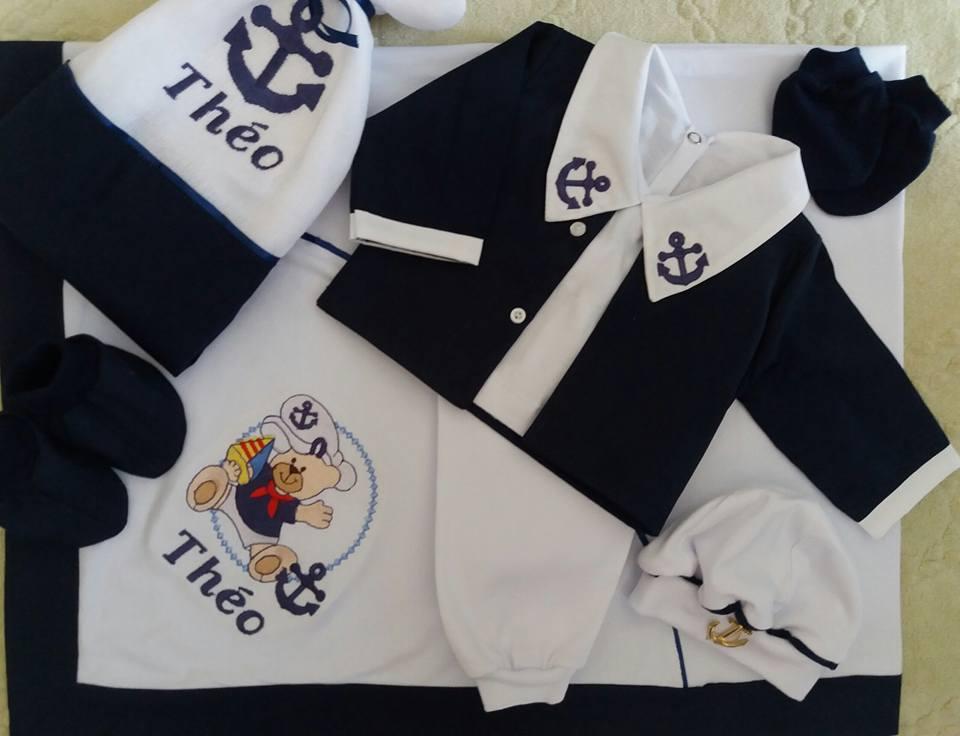 27a414c664d4f Saida de Maternidade Marinheiro em Trico