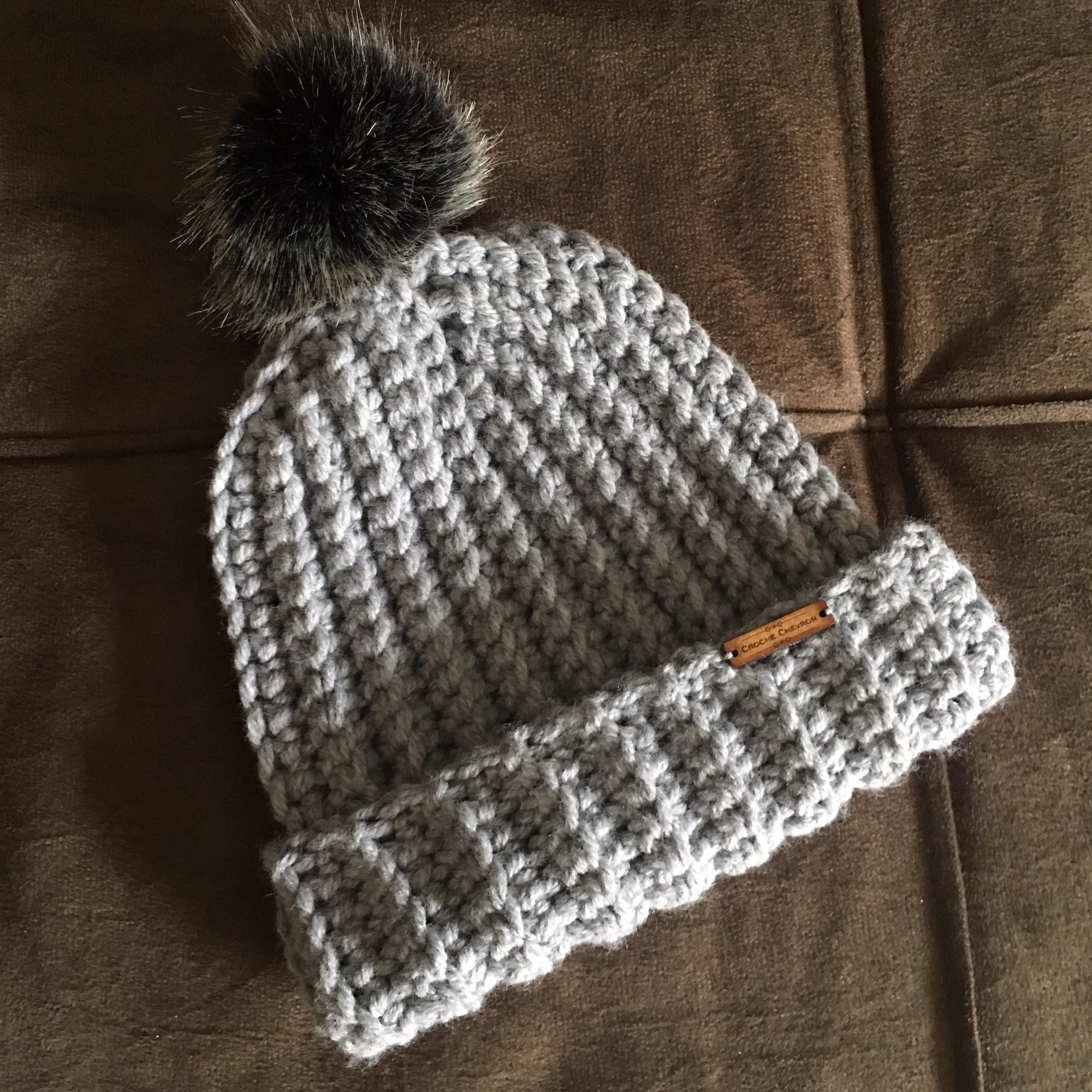 Gorro em Crochet Tamanho Adulto  810073833d2