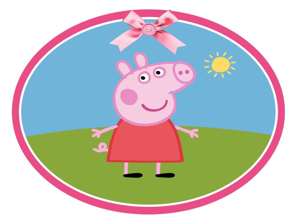 Placa Elipse Festa Peppa Pig 60x45cm 02 no Elo7 | DecorandoeGrudando  (93A87F)