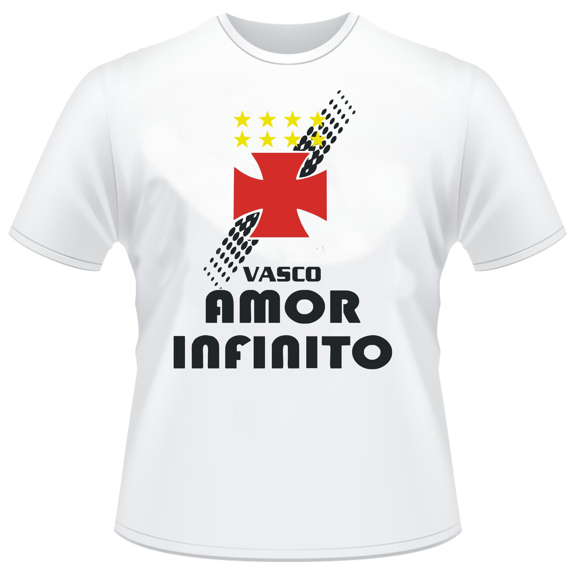 2308e780b692c Camiseta Vasco Amor Infinito no Elo7