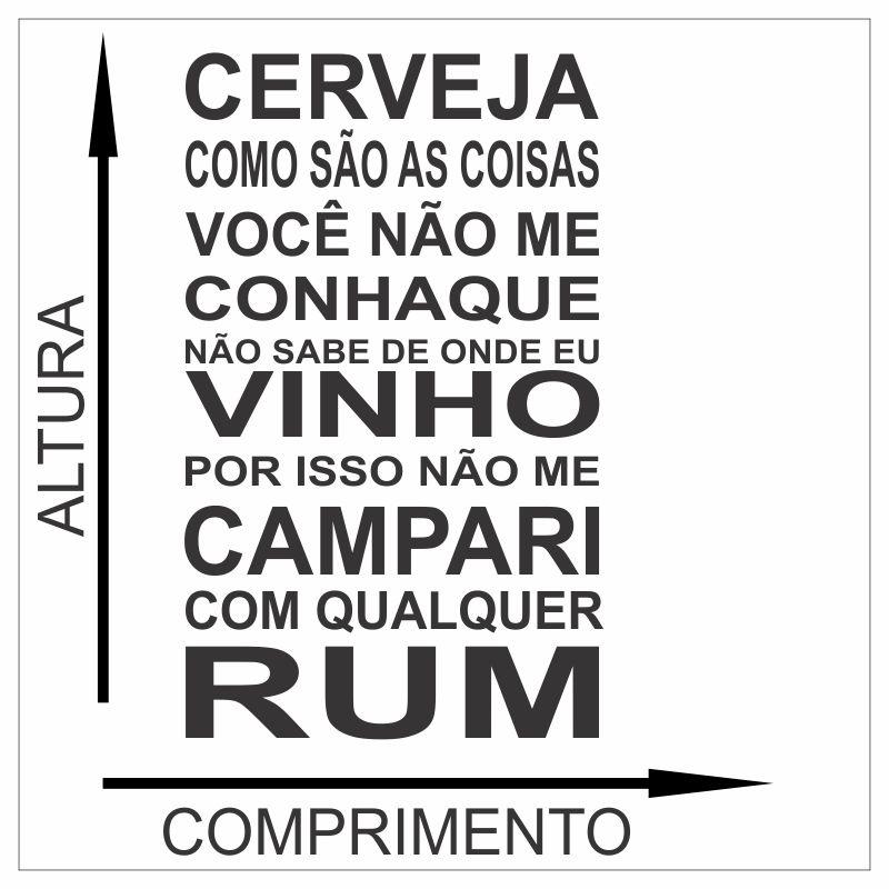 Adesivo Frases Frase De Bar