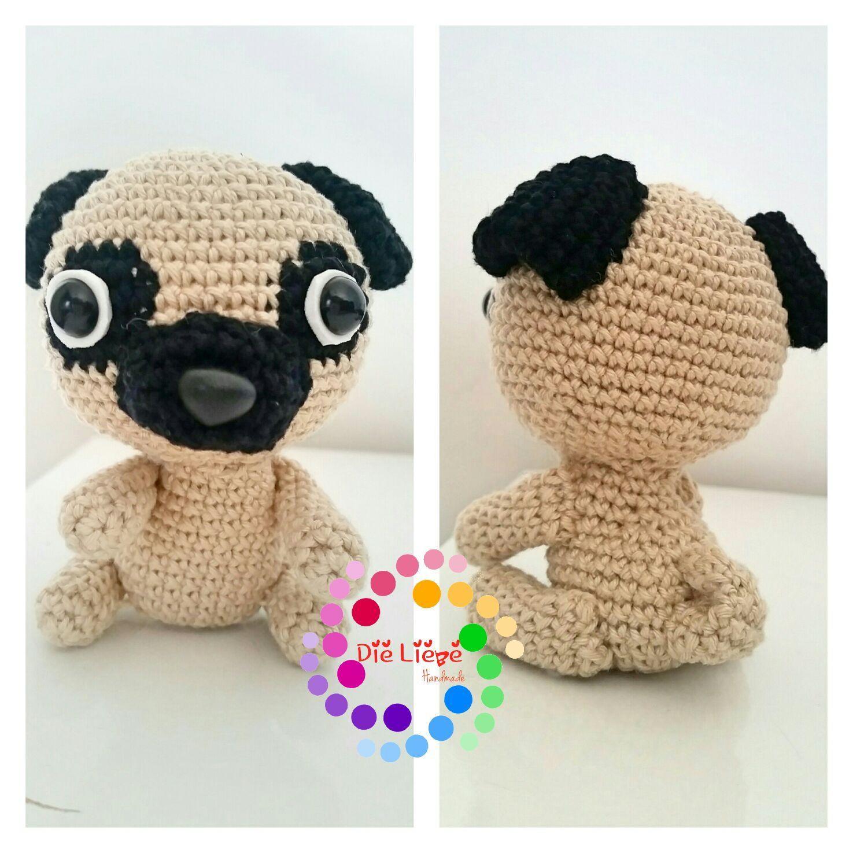Crochet Baby Pug Amigurumi | Crochet dog, Baby pugs, Crochet bear | 1475x1475