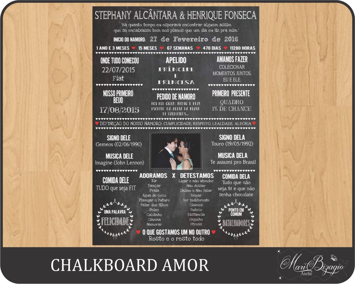 Chalkboard Namoro Elo7