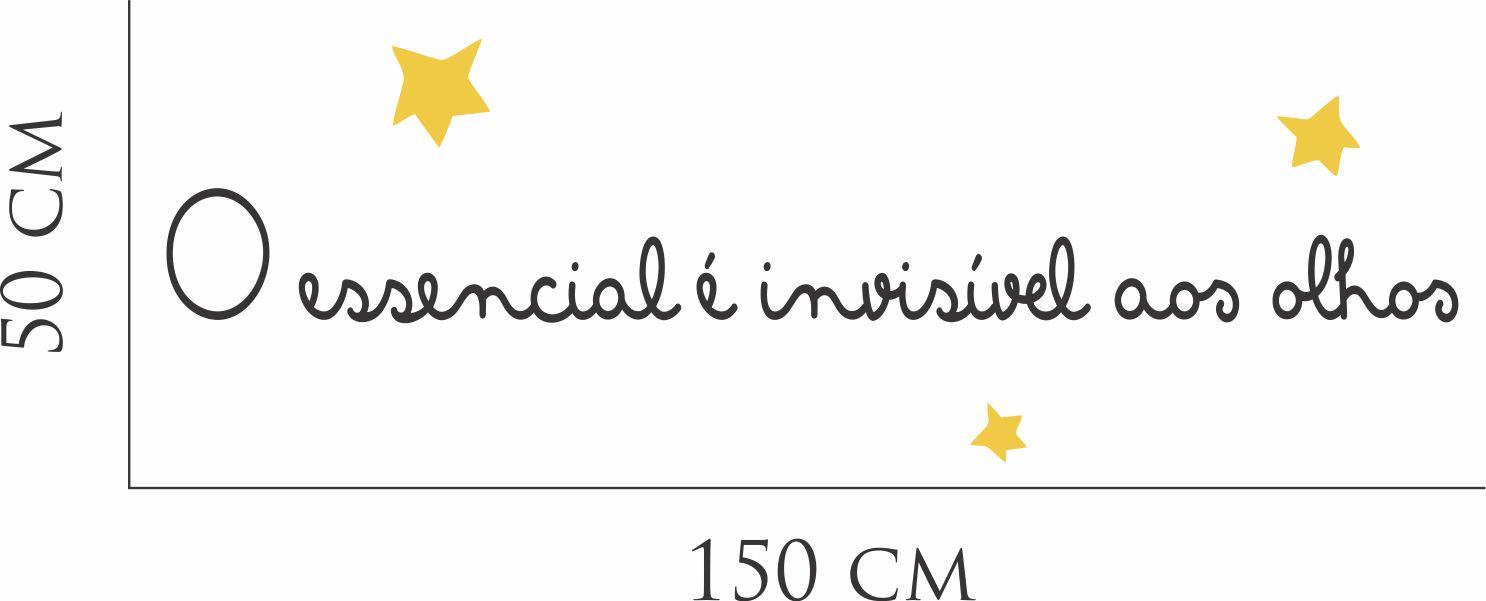 Top Adesivo Parede Frase Pequeno Principe no Elo7 | Inove Brindes (9475E2) LR32
