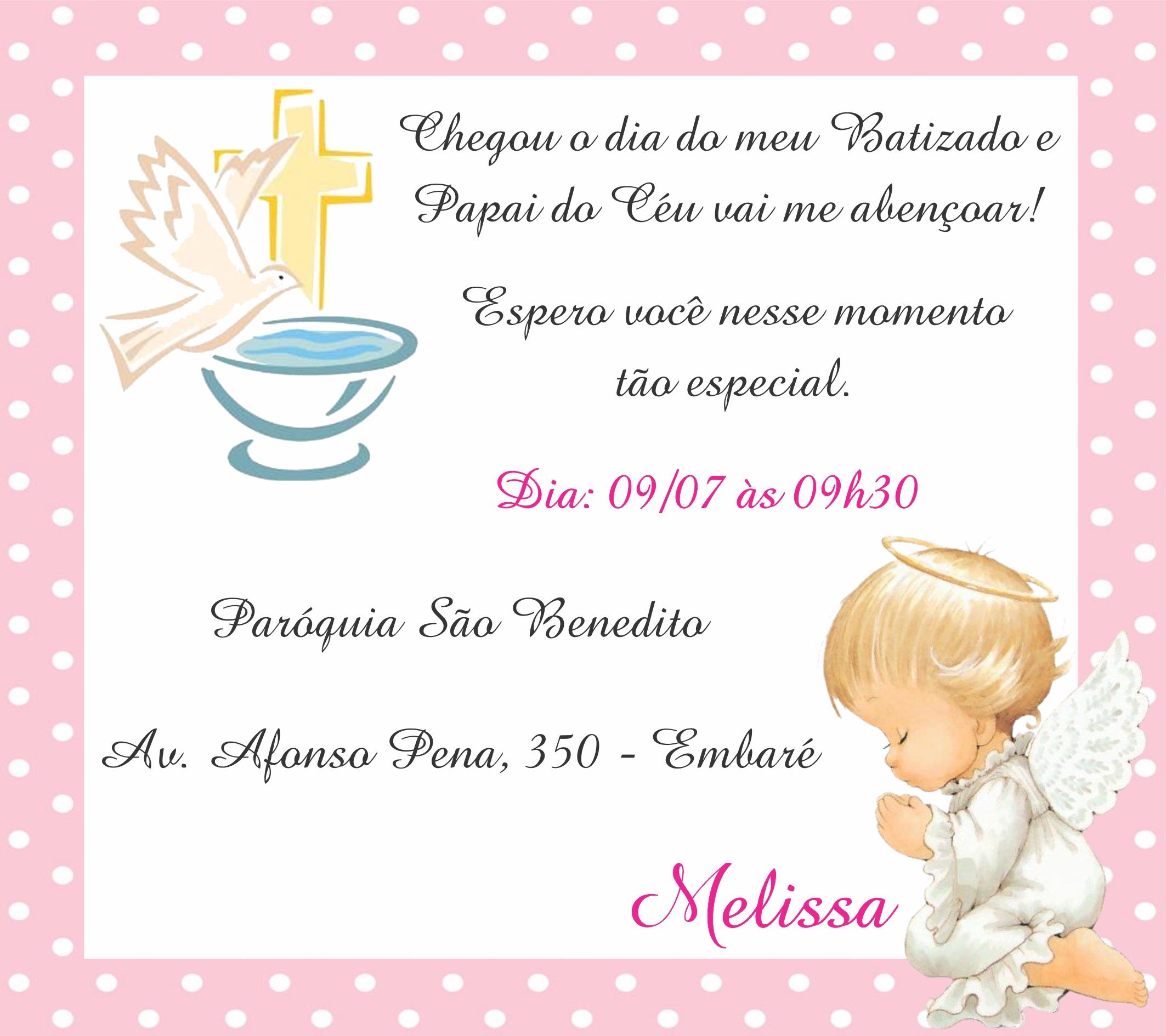 Convite Digital Batizado Anjinha Rosa No Elo7 Marcante Artes 947ec6