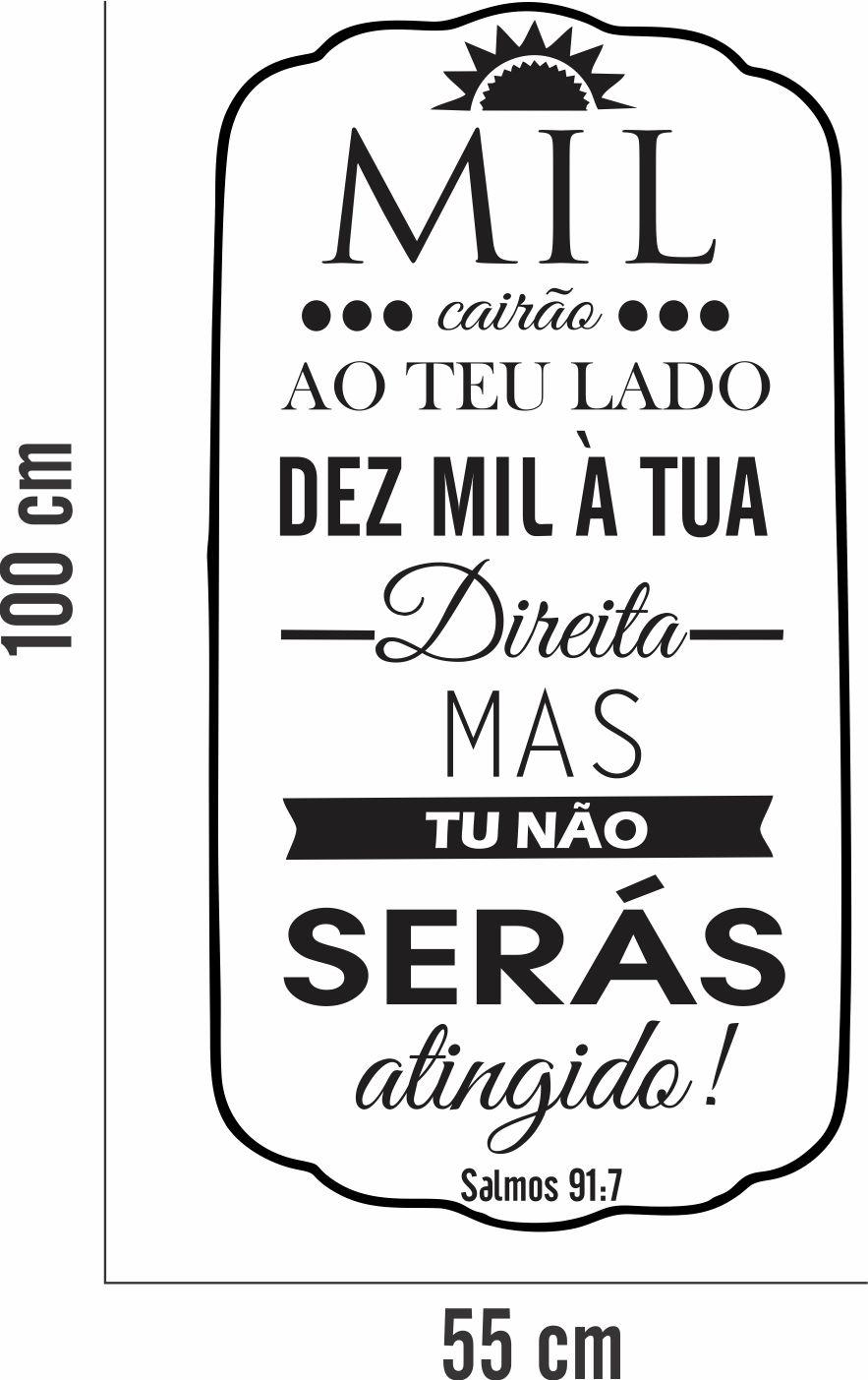 Adesivo Parede Frase Salmos Mil Cairão No Elo7 Inove Brindes 948646