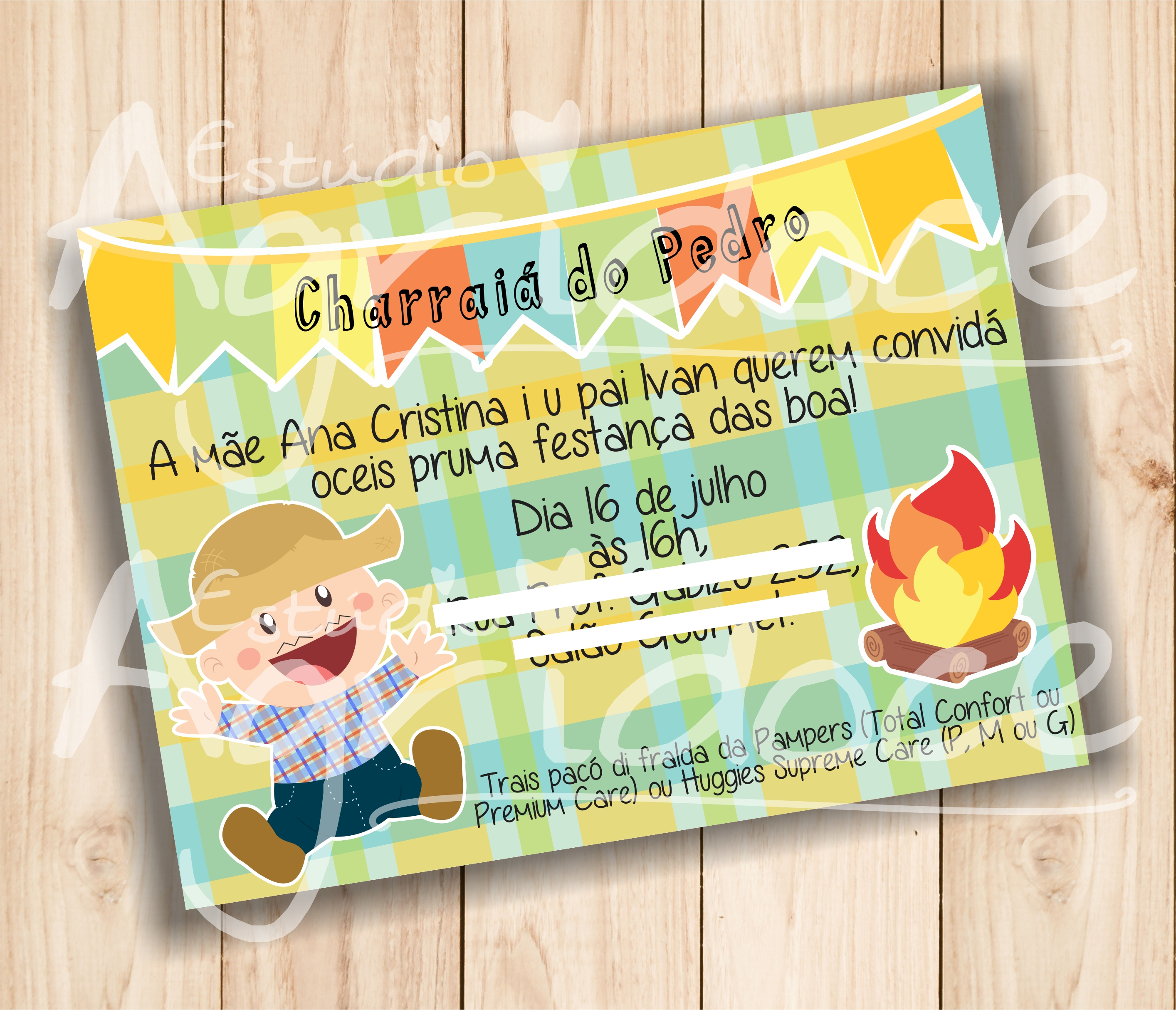 Convite Cha De Bebe Festa Junina Elo7