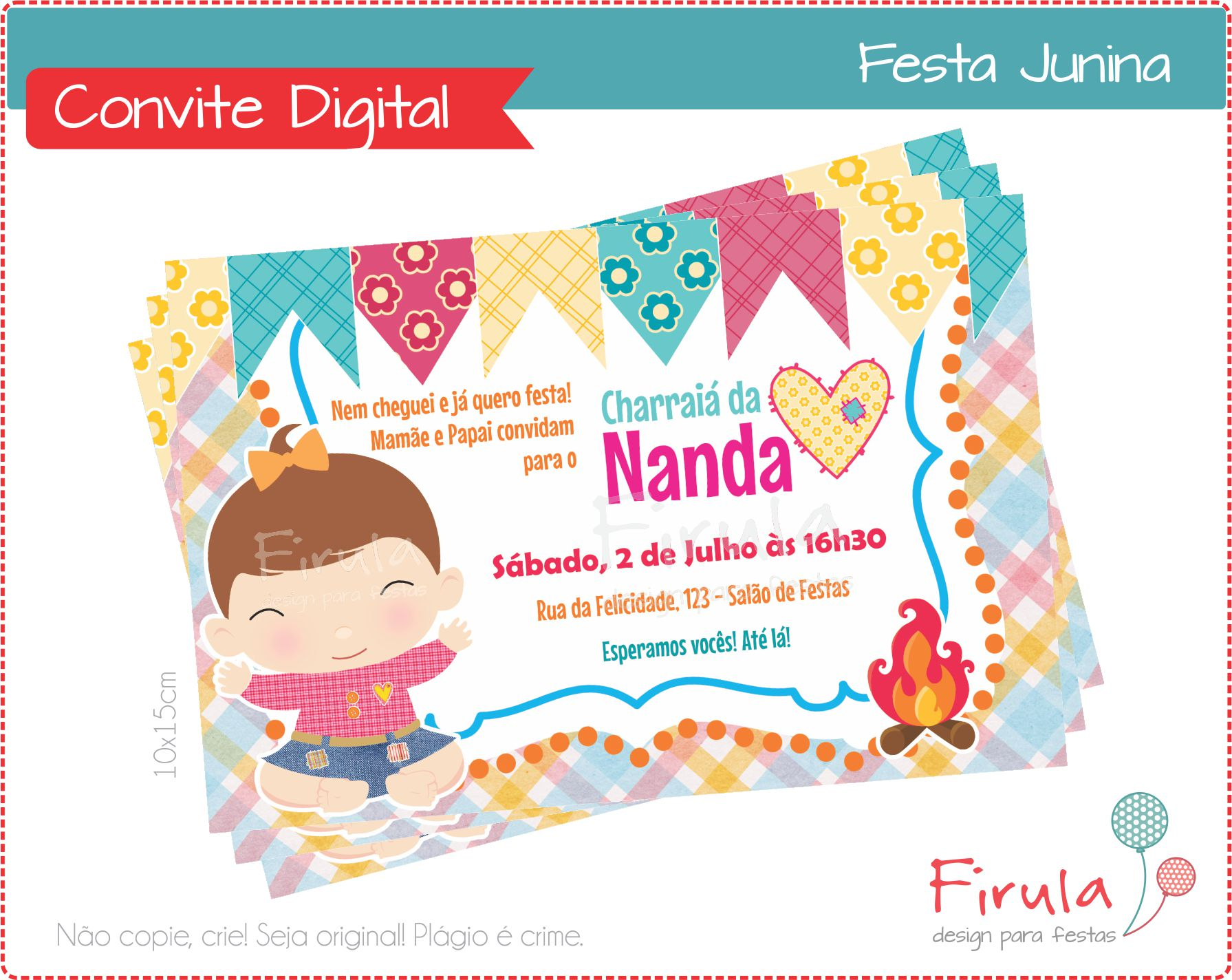 Convite Digital Festa Junina Estalinho No Elo7 Firula Festas