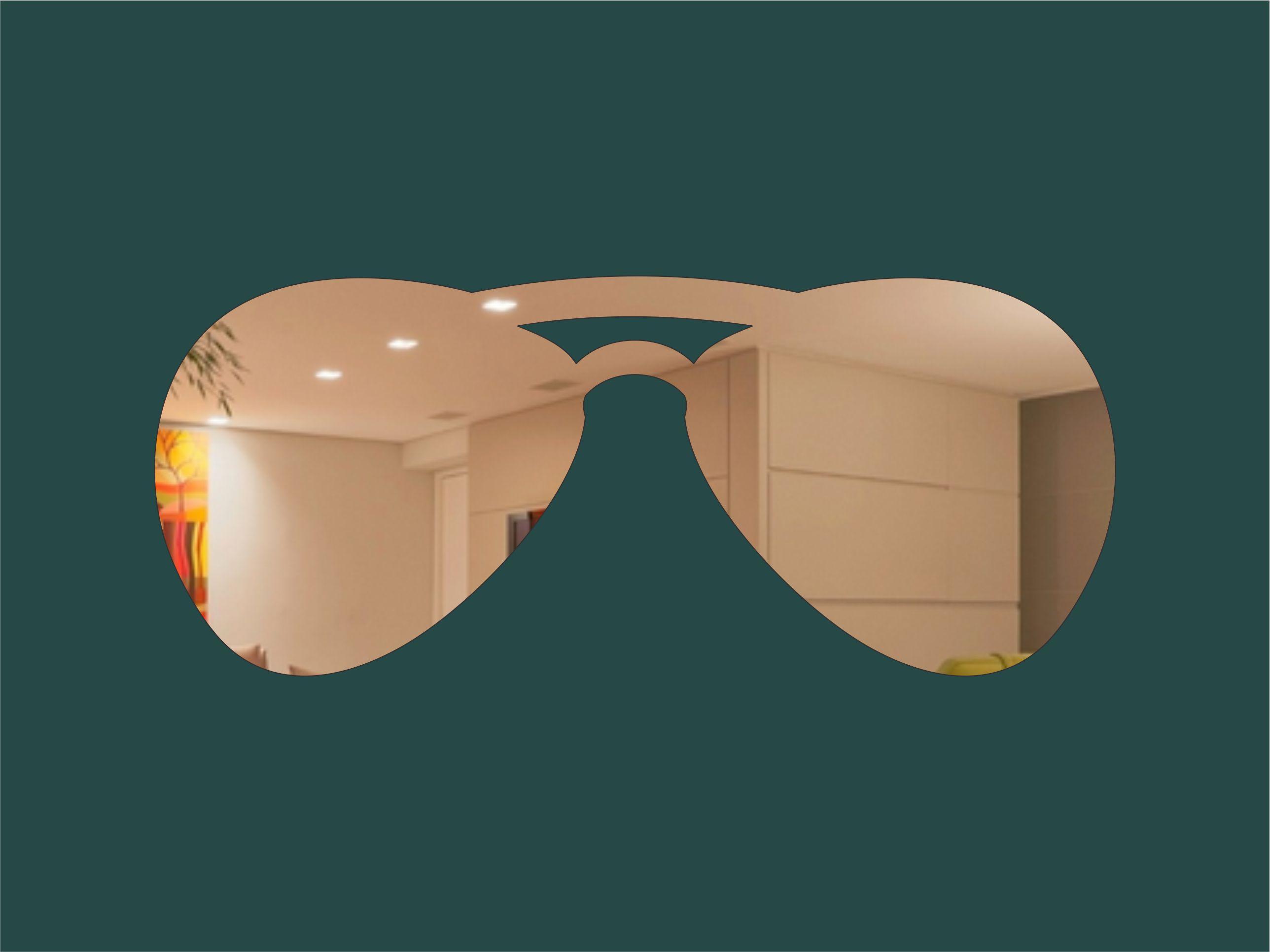 d6af07e395a57 Acrílico Espelhado - Óculos Decorativo no Elo7