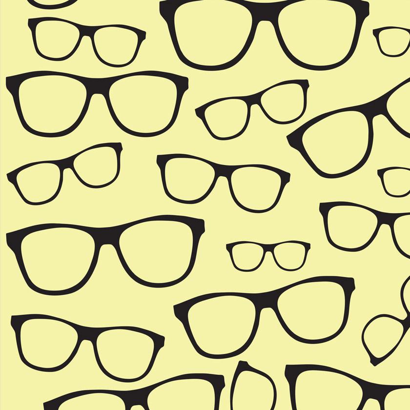 Papel de Parede Oculos Pretos Sobre Bran   Elo7 e47b6a5597