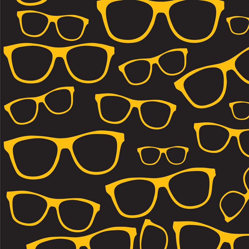 Adesivo de Parede Óculos Amarelo Preto no Elo7   ADECORAR (952220) 68e0c46027