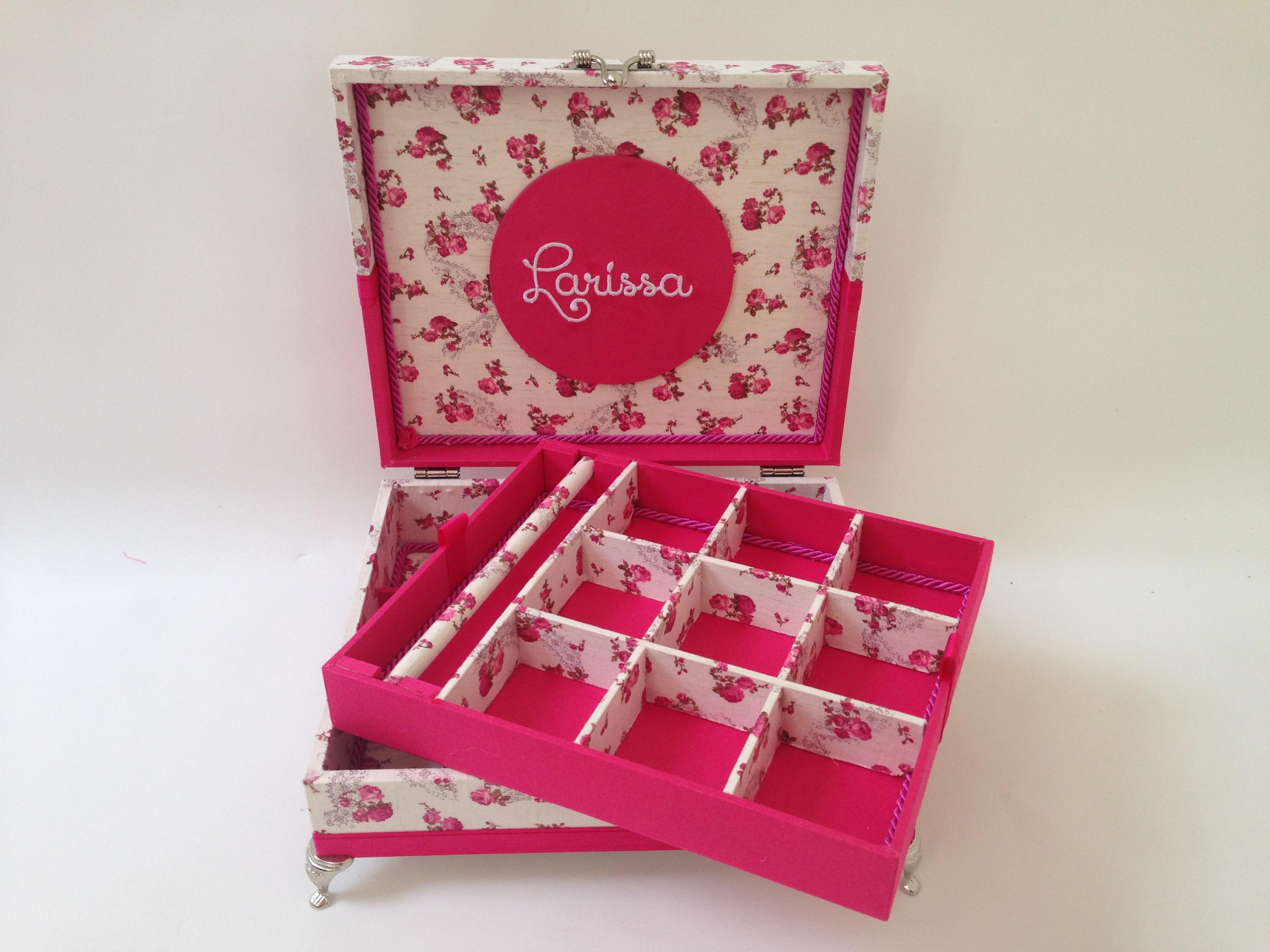 d38fd429e0952 Caixa Organizadora para Bijuterias e Joias P Tiffany   Elo7