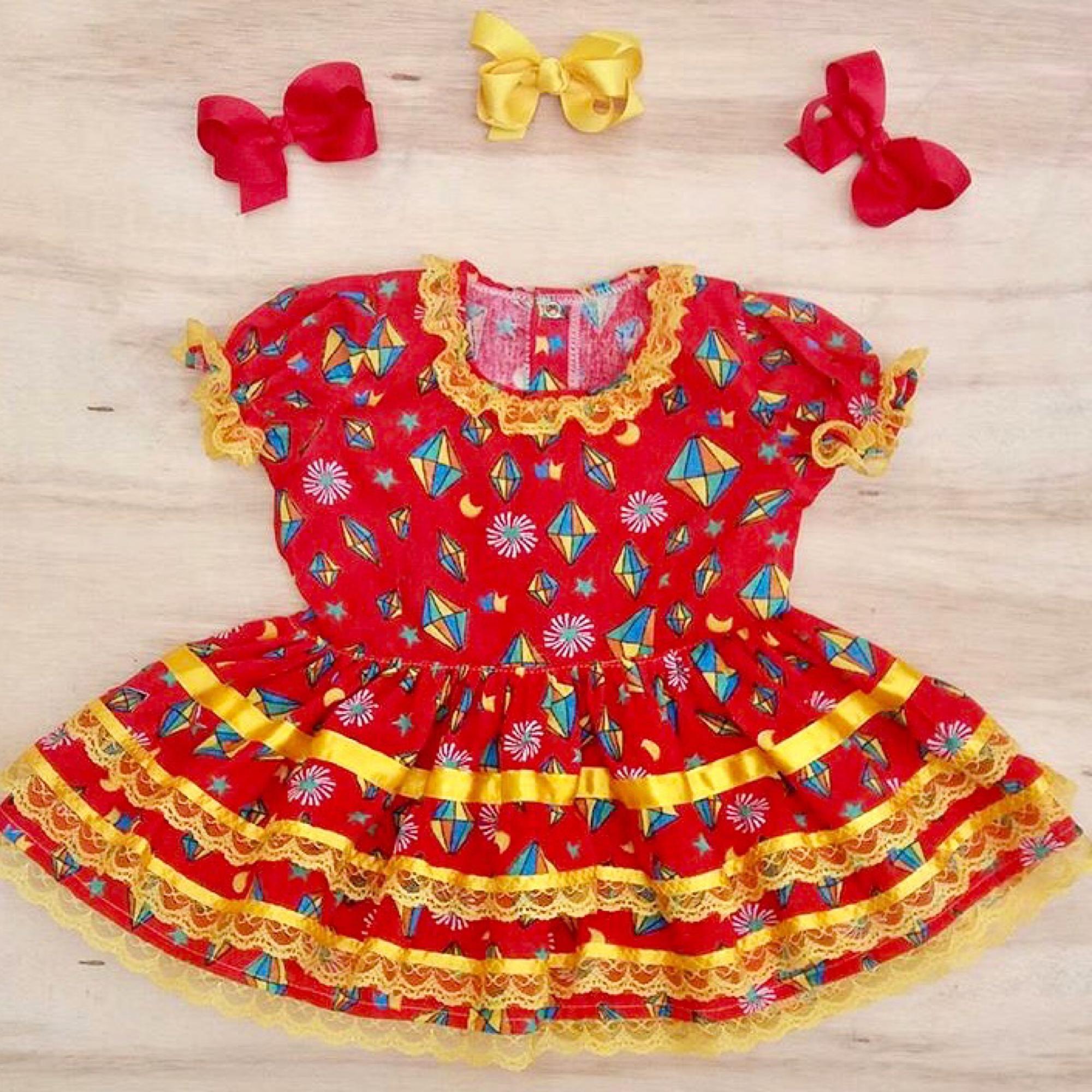 Vestidos de festa junina de bebe