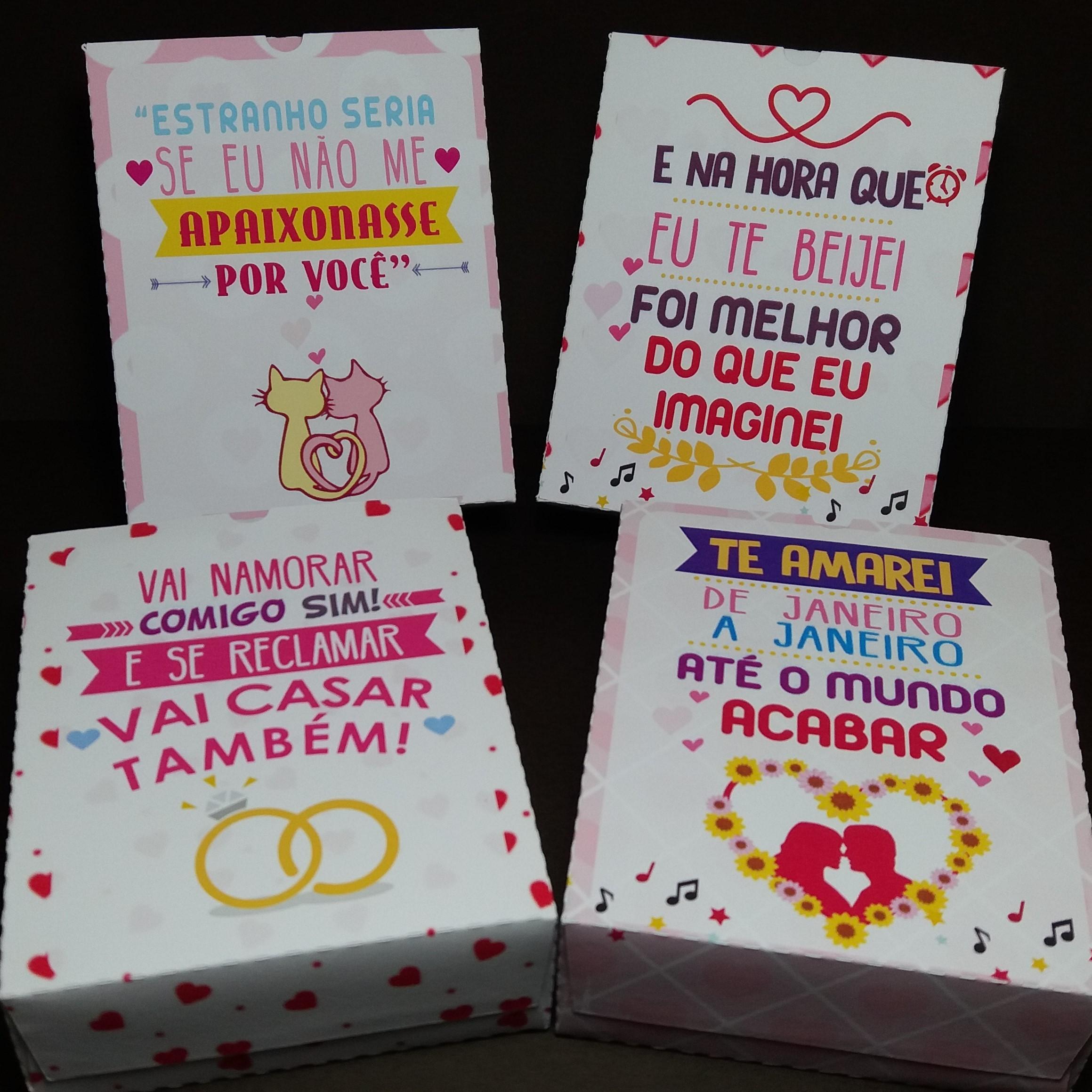 Caixa Dia Dos Namorados Frases Musica Elo7