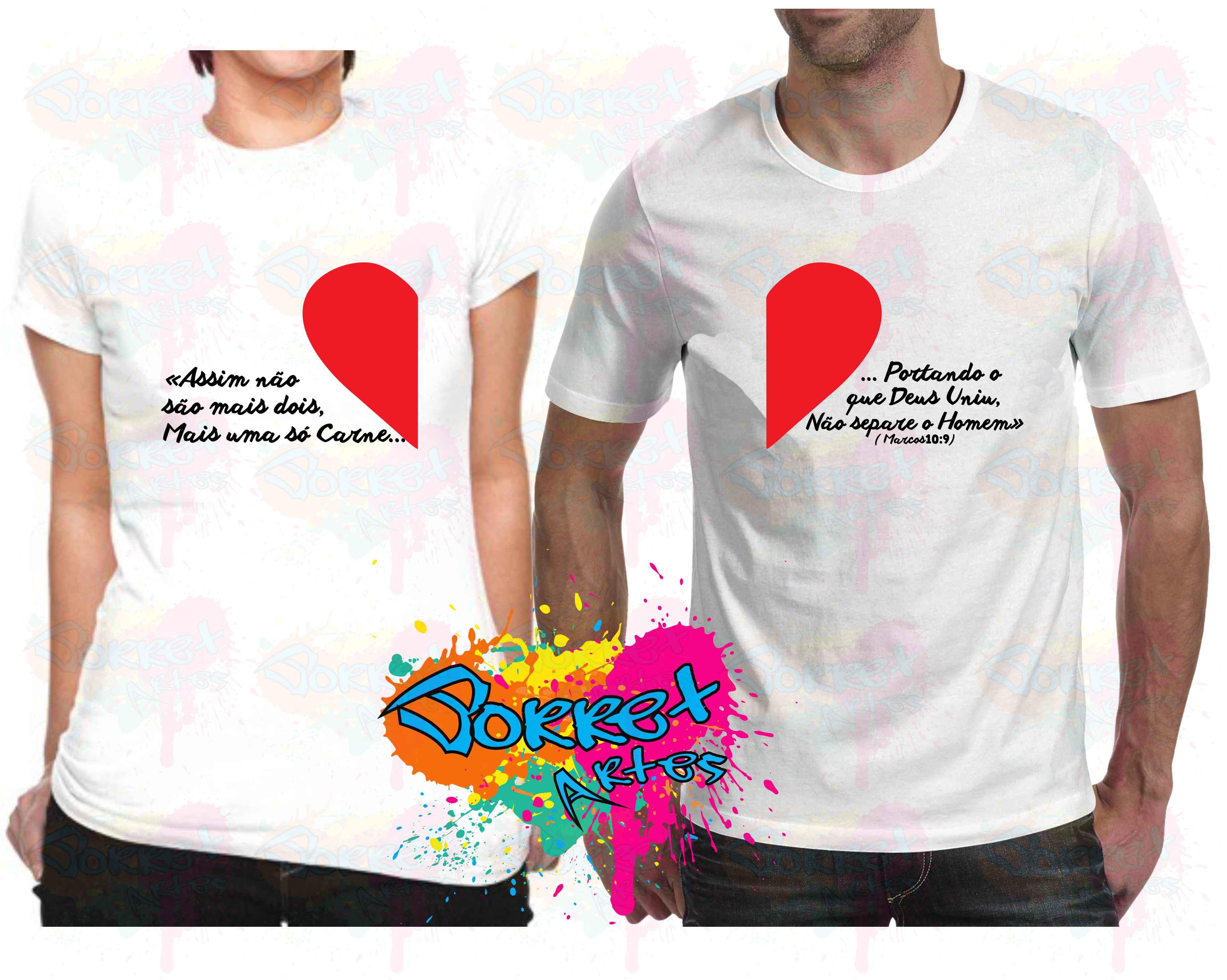 5f03ede789dae Camisas Personalizadas Namorados