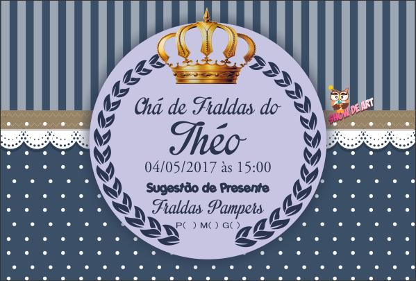 Arte Convite Chá De Fraldas Principe No Elo7 Show De Art 967194