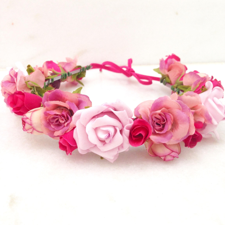 Tiara de Flores Tons de Salmao  369f58f2a98