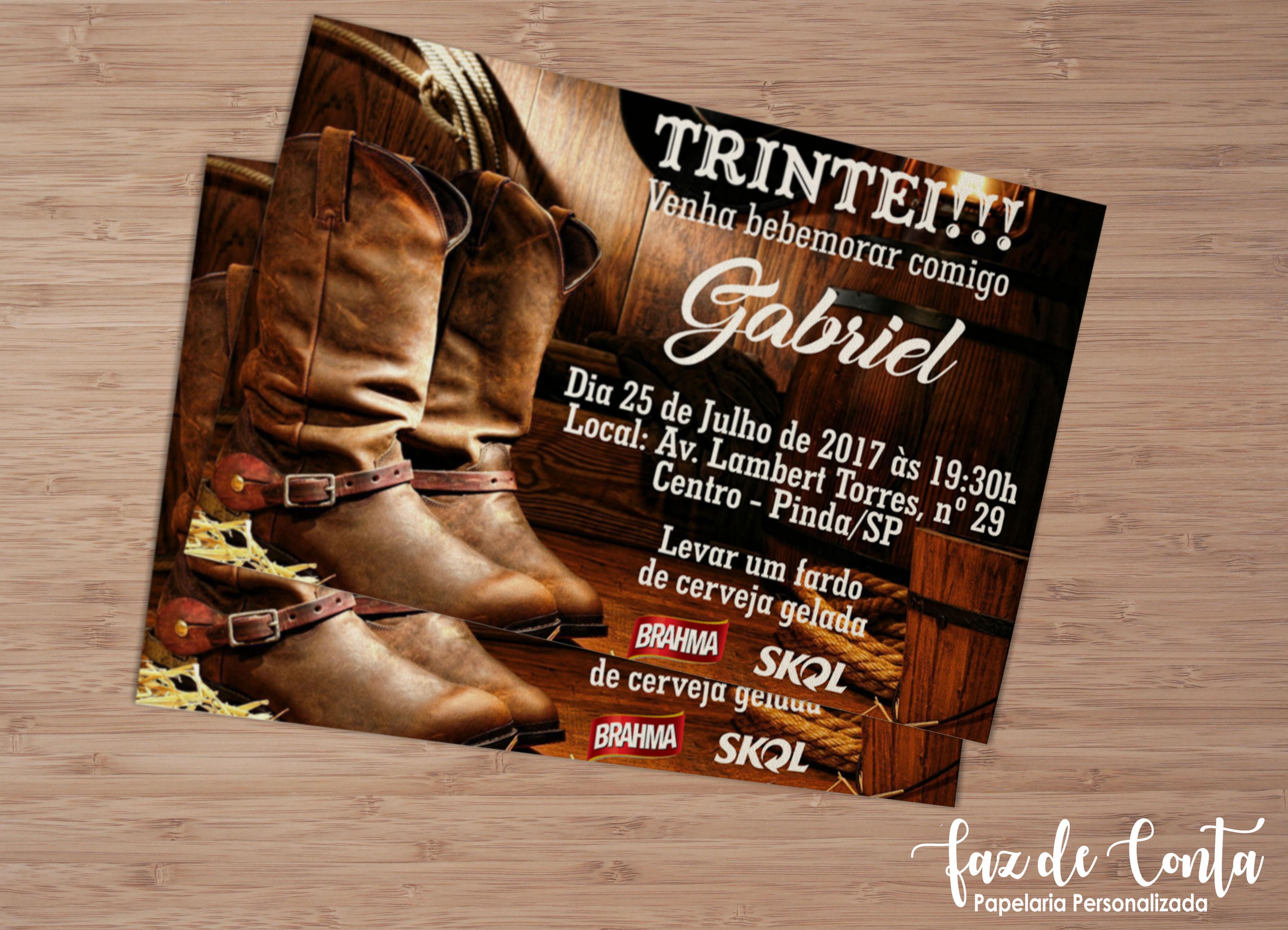 Convite Cowgirl  a4fd0a7133c