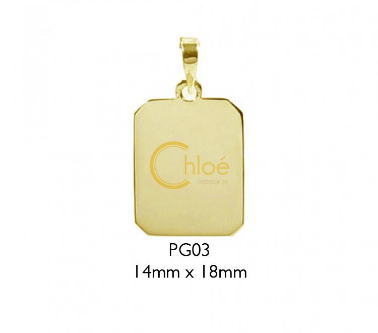 43f130db411d7 Pingente com Fotogravação - Ouro 9K no Elo7
