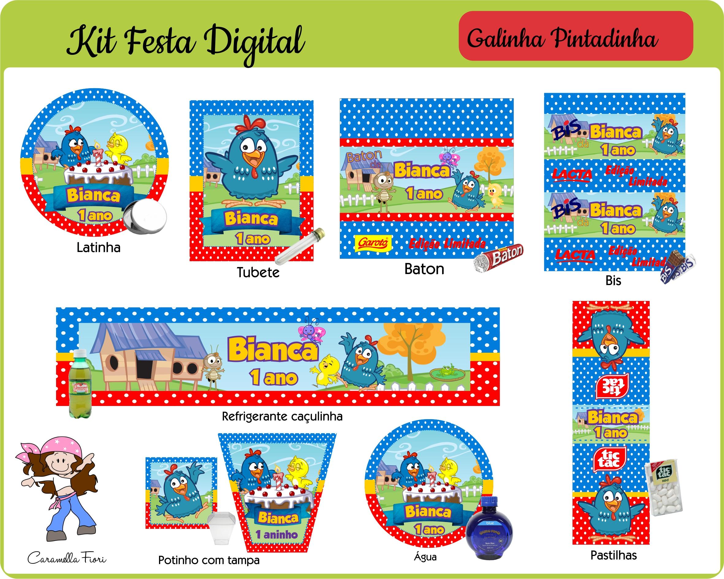 Kit Festa Digital Galinha Pintadinha No Elo7 Caramella Fiori