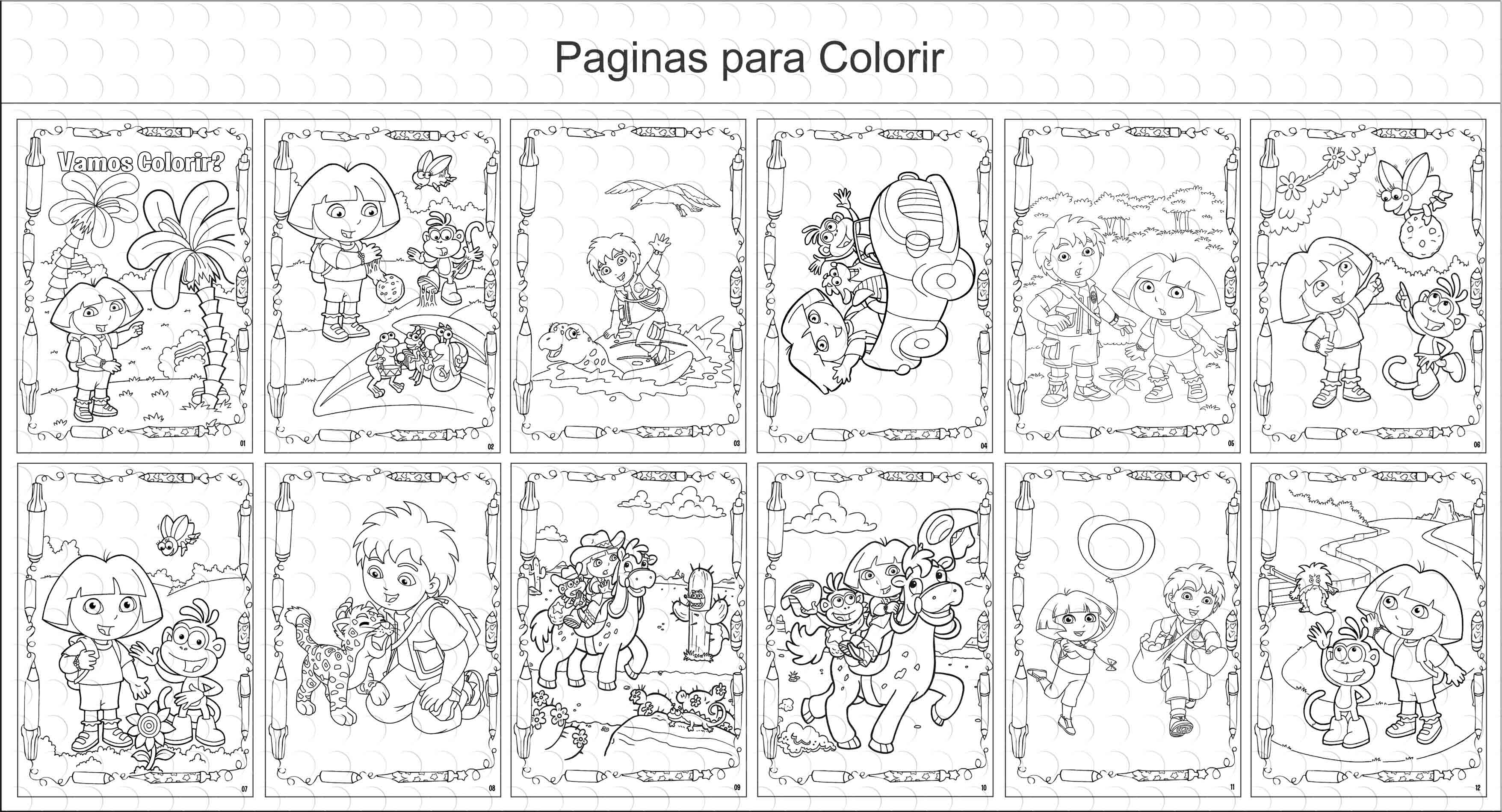 Livro De Colorir Dora E Diego 15x21cm No Elo7 G A Personalize