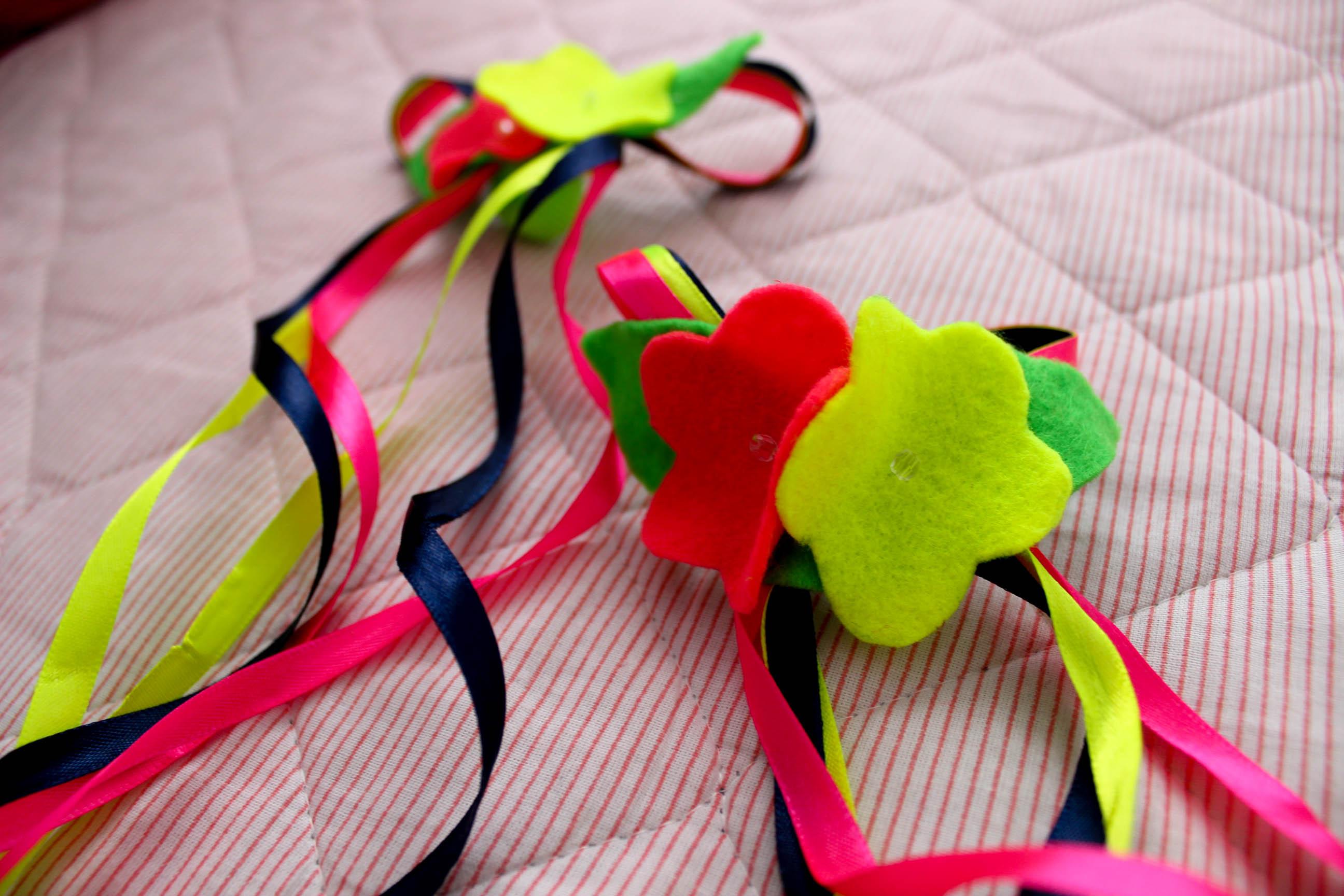 laços para festa junina colorido