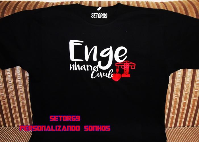 Camiseta Engenharia Civil Engraçada Elo7