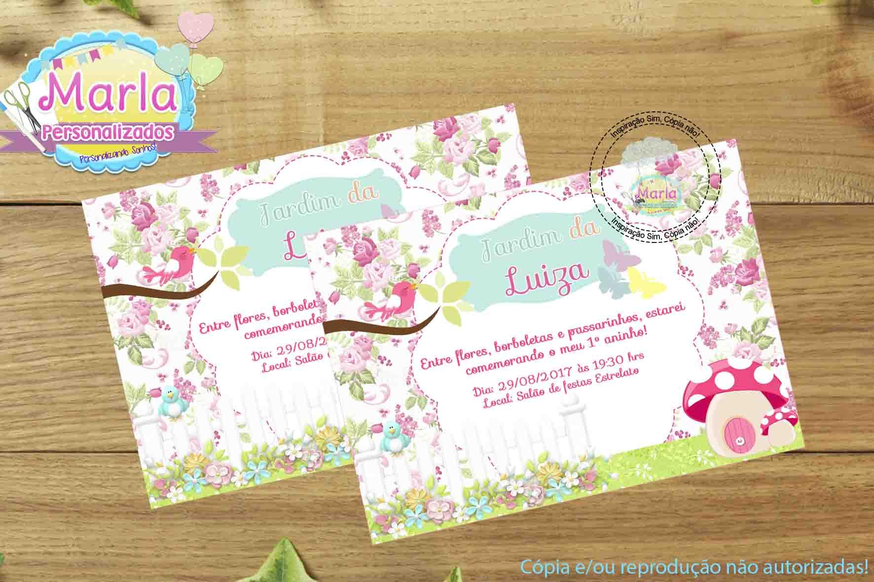Convite Digital Jardim Encantado Elo7