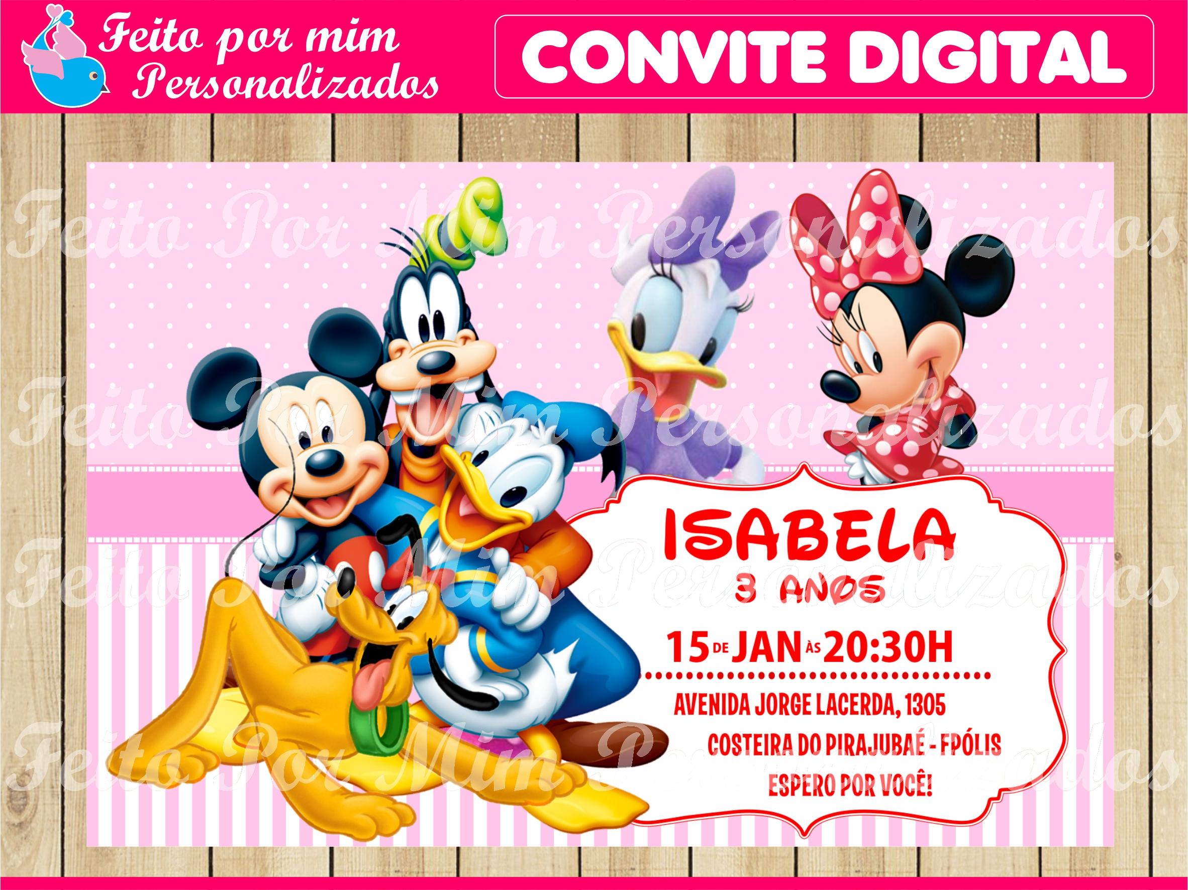 Convite Digital Turma Do Mickey