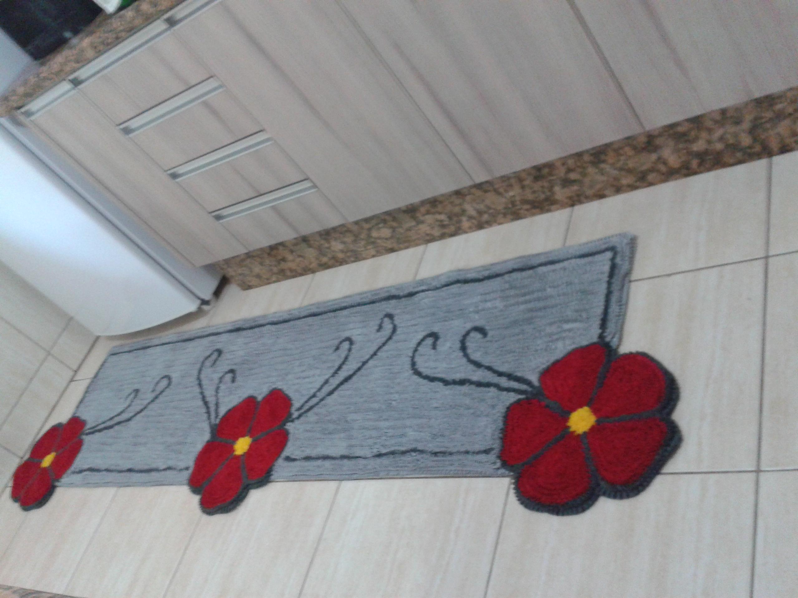 Tapete Frufru Para Cozinha Com Flores No Elo7 Tapete Frufru Da  -> Tapete Frufru De Flor