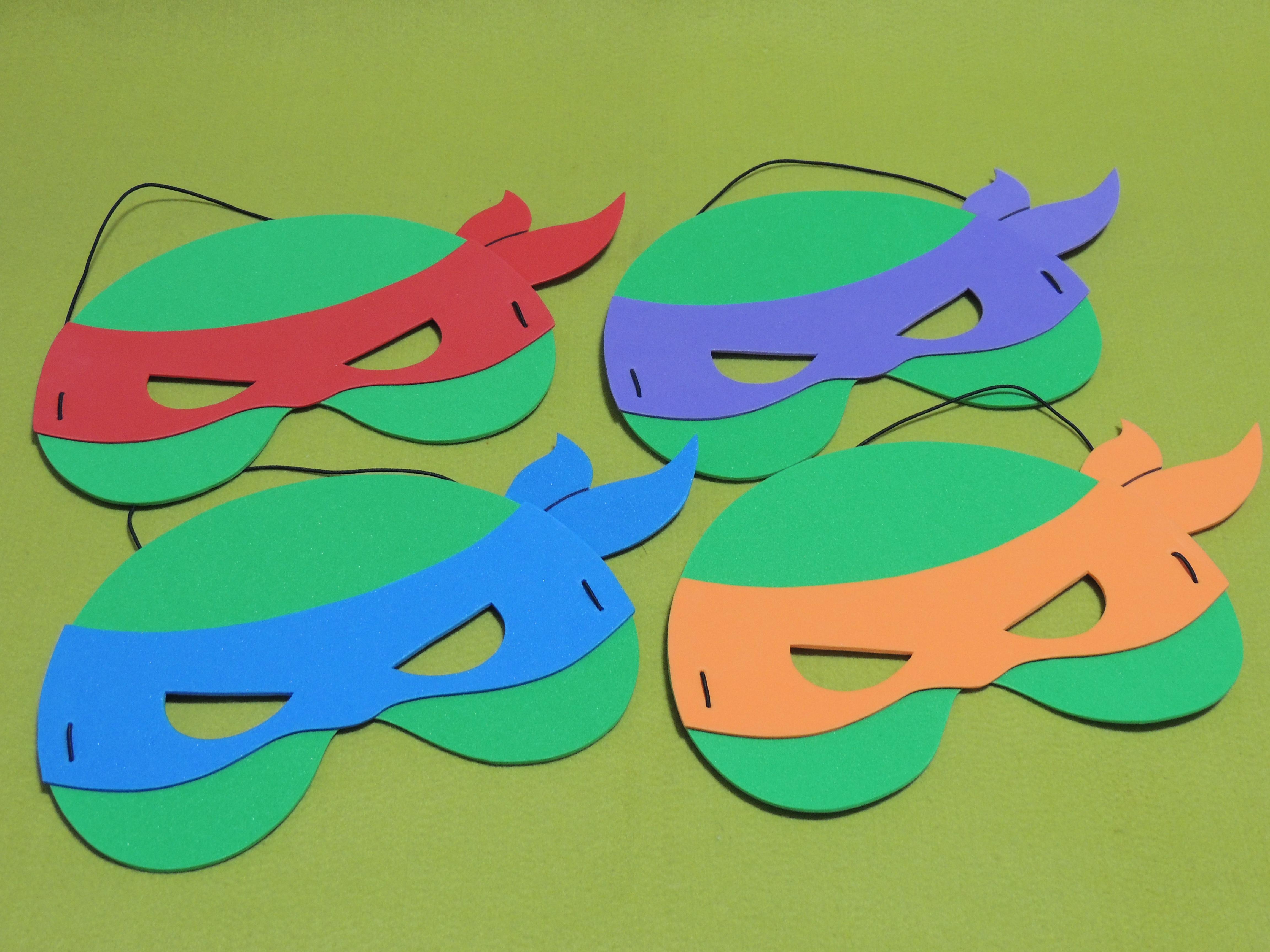Mascaras Tartarugas Ninja Em Eva No Elo7 Atelie Amarelinha 97c060