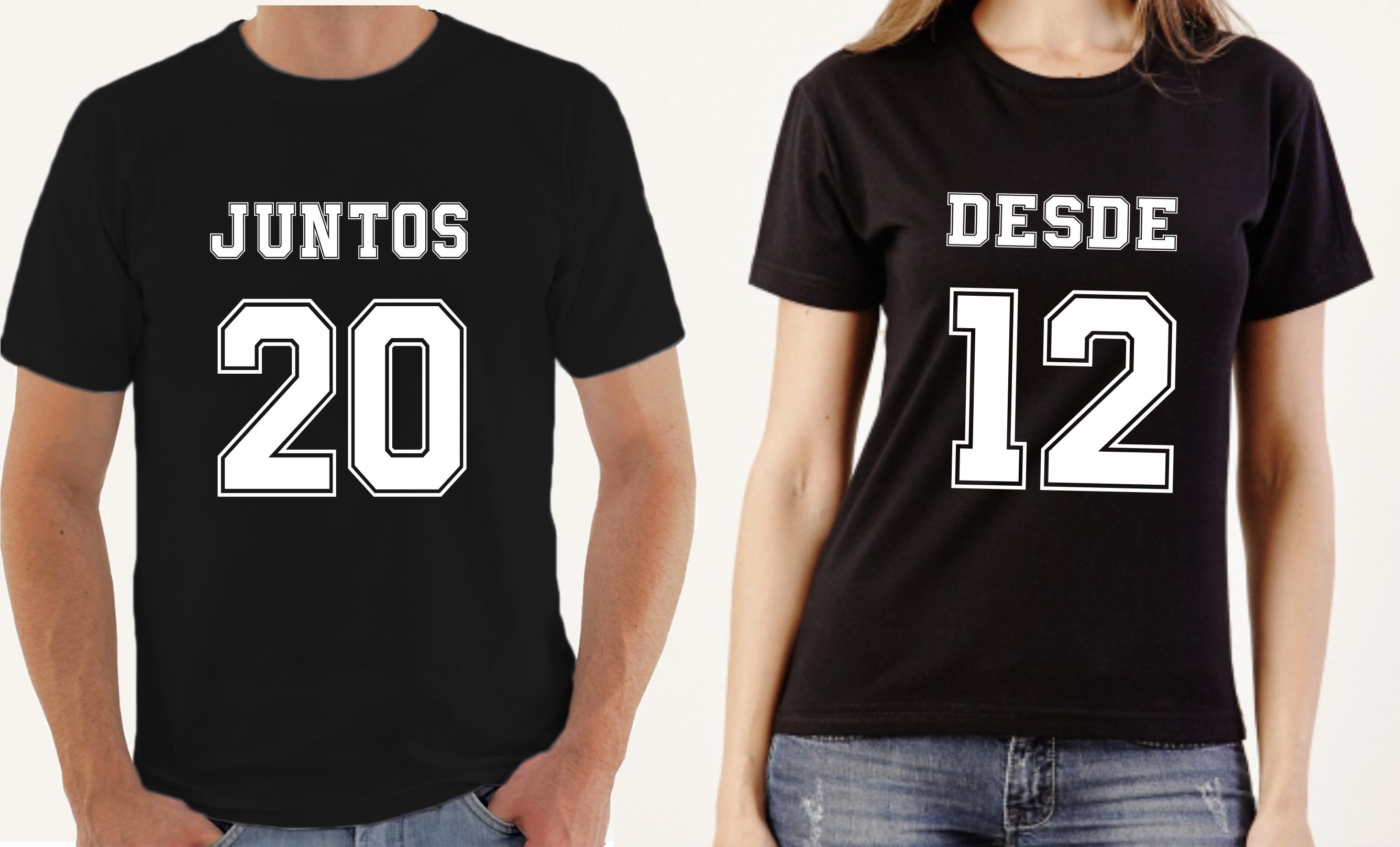 280be3e0b Camisetas Dia dos Namorados Juntos Desde Seu Ano Promocao