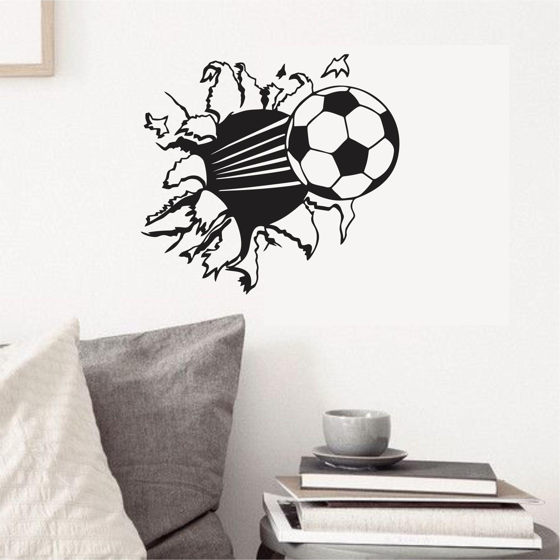 Adesivo Parede Infantil Bola Futebol  a7c7c8ce0bf2c