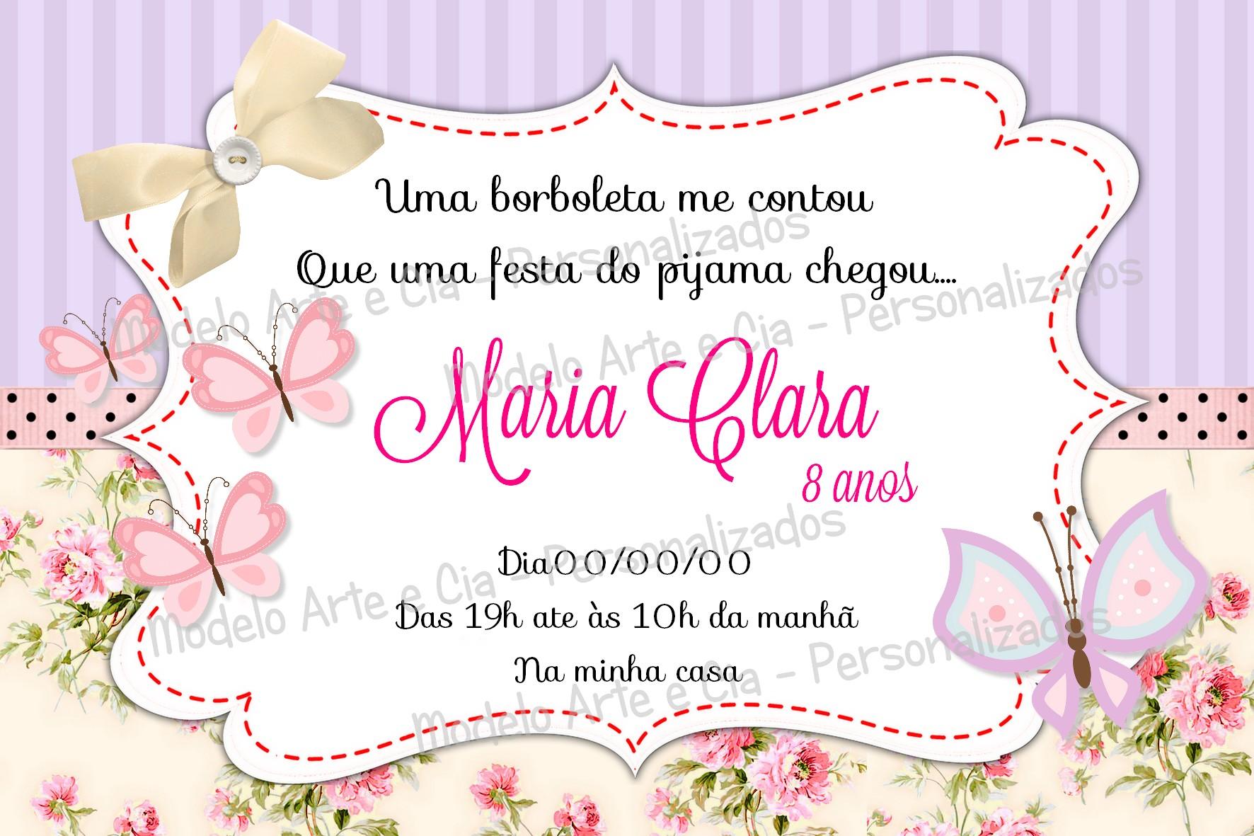 Convite Borboletas Rosa E Lilas No Elo7 Arte E Cia